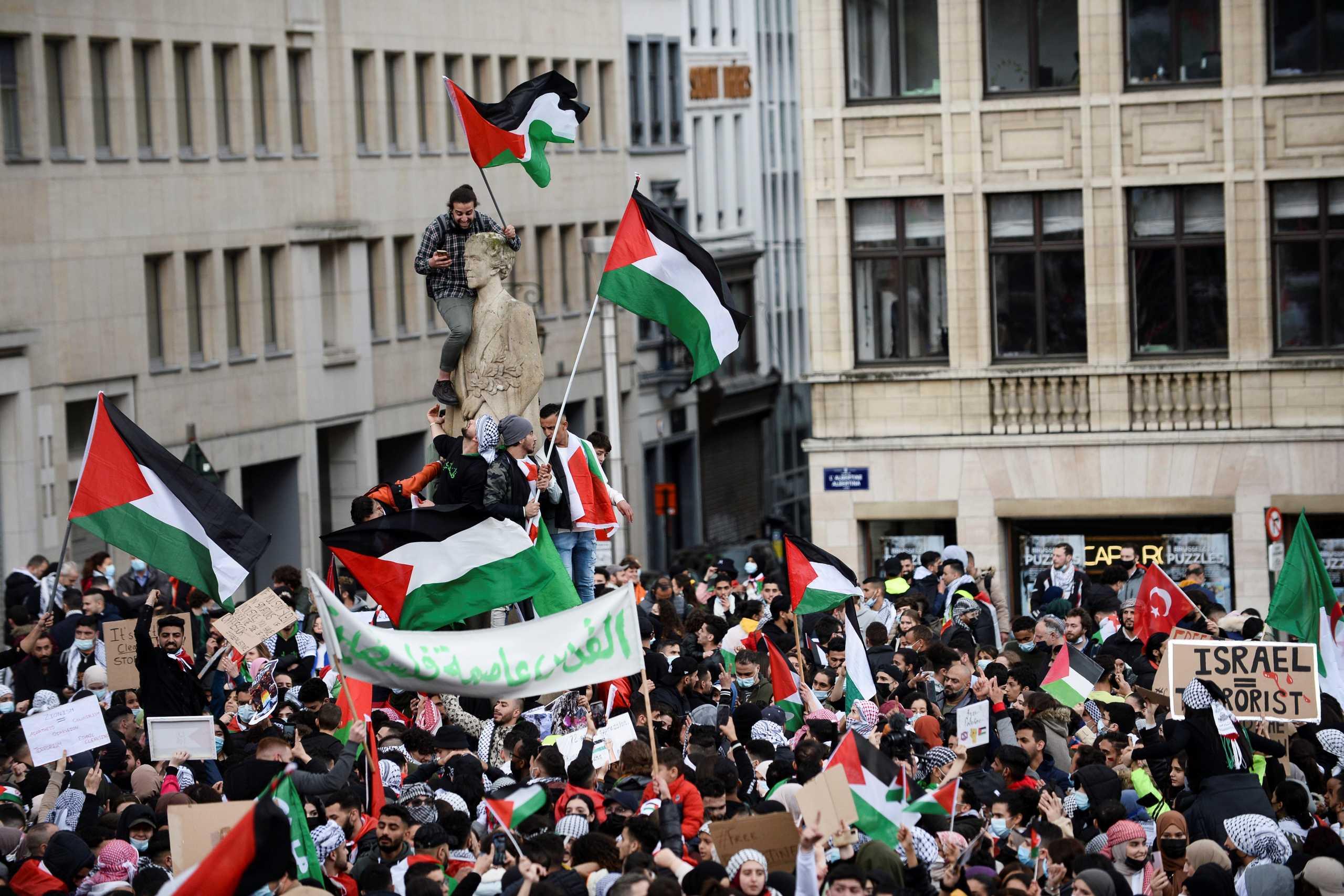 Μαζικές διαδηλώσεις σε Ευρώπη και ΗΠΑ υπέρ των Παλαιστινίων (pics)