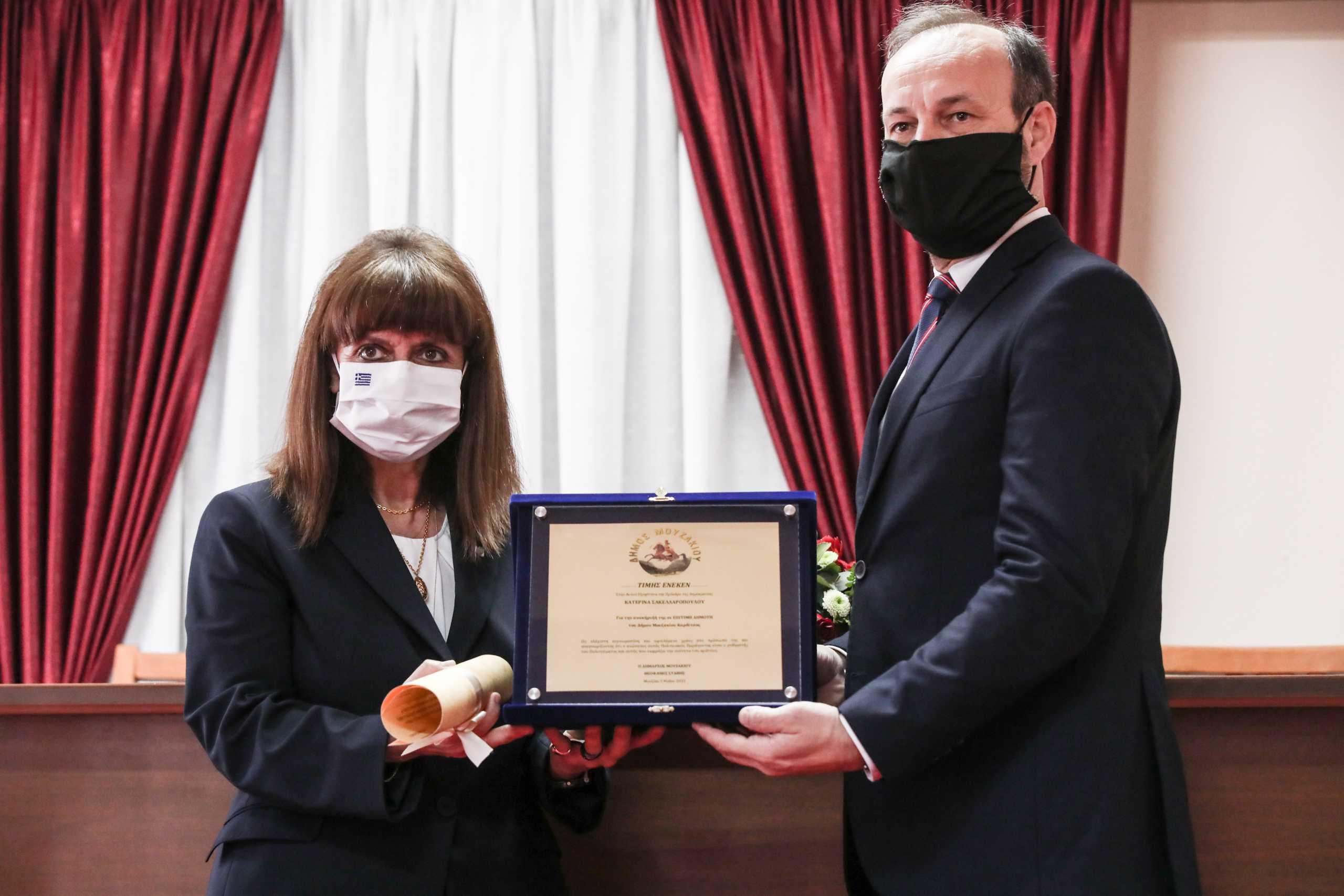 Καρδίτσα: Ανακήρυξη της Κατερίνας Σακελλαροπούλου σε επίτιμη δημότη του Δήμου Μουζακίου