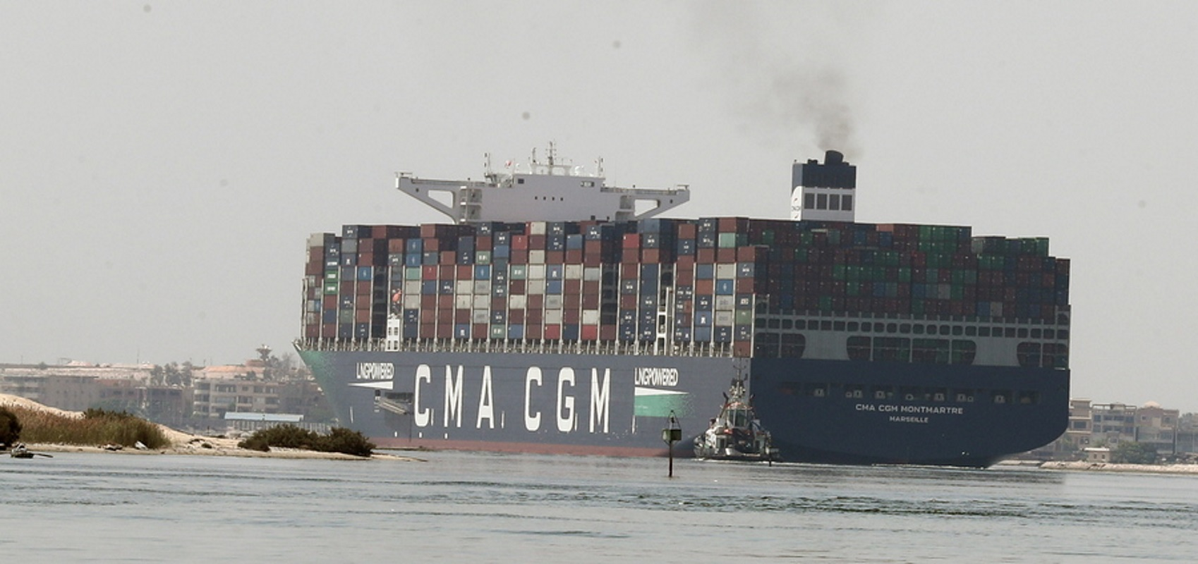 Αίγυπτος: Πλοίο μεταφοράς εμπορευματοκιβωτίων προσάραξε στο Σουέζ – Κανένα πρόβλημα στη Διώρυγα