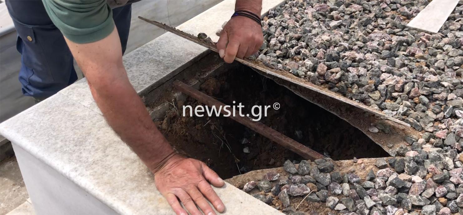 Δράμα: Έσπασαν οικογενειακό τάφο και έθαψαν το νεκρό που έκλεψαν από την Καβάλα