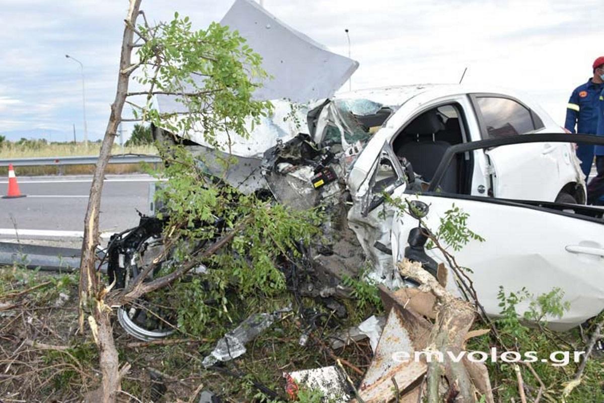 Φρικτό τροχαίο στην Εγνατία – Νεκρός ο 49χρονος οδηγός (pics, vid)