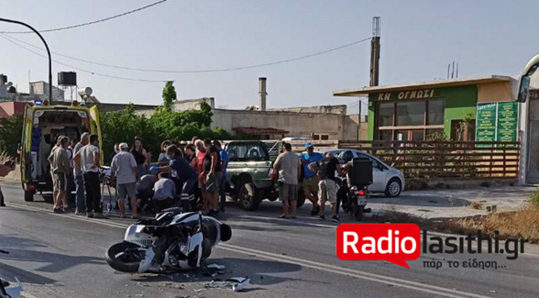 Κρήτη: Διαλύθηκε μηχανή μετά από σφοδρότατη σύγκρουση με αυτοκίνητο (pics)