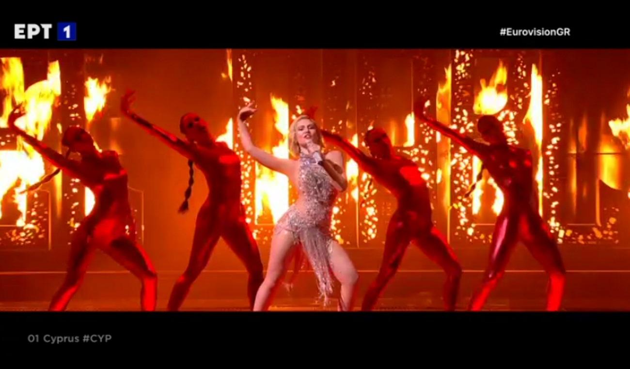 Eurovision 2021: Η Έλενα Τσαγκρινού «πυρπόλησε» τη σκηνή με το El Diablo