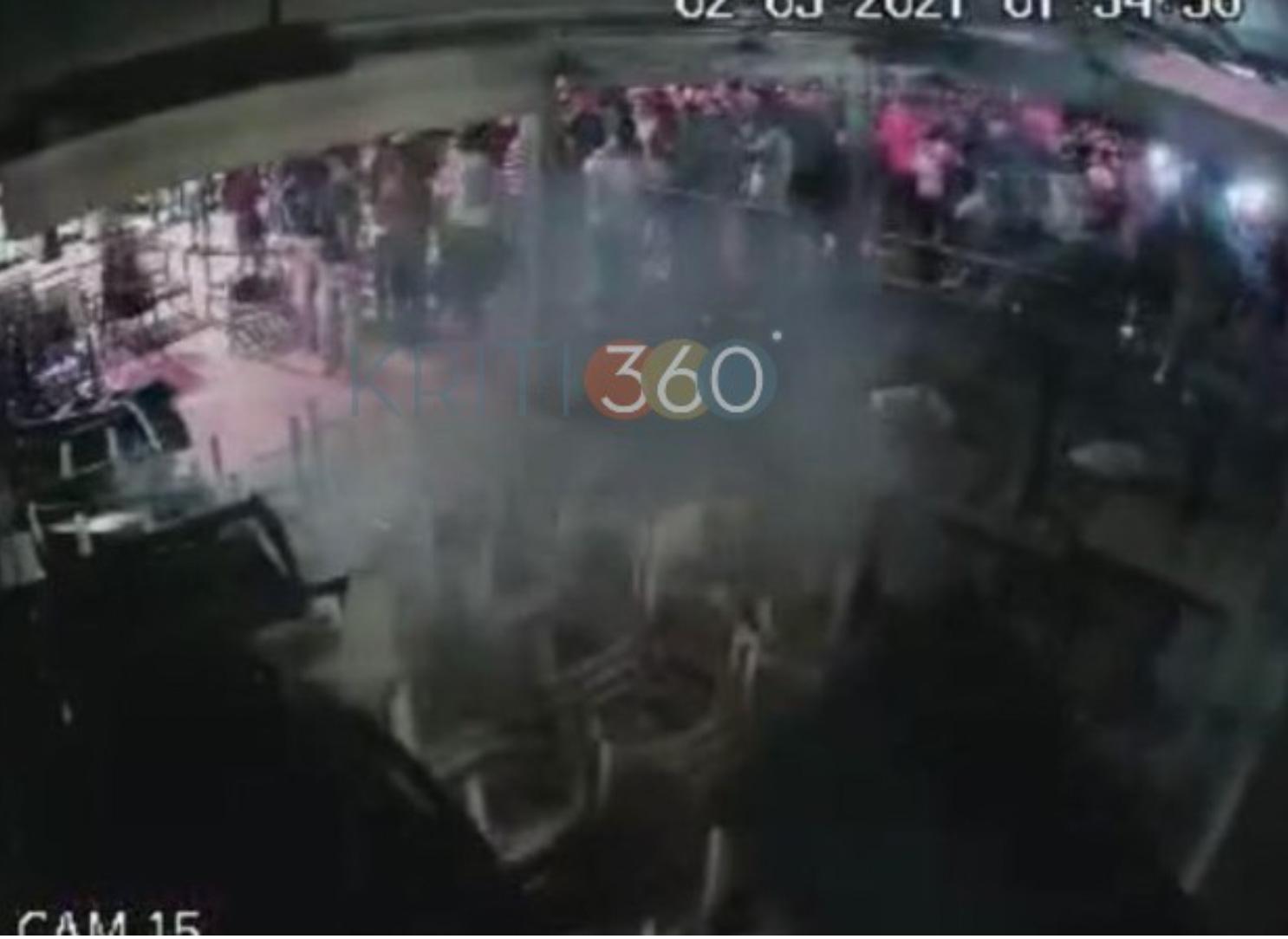 Χανιά: Παραλίγο «μπουρλότο» σε μαγαζί κατά τη διάρκεια κορονοπάρτι  (video)