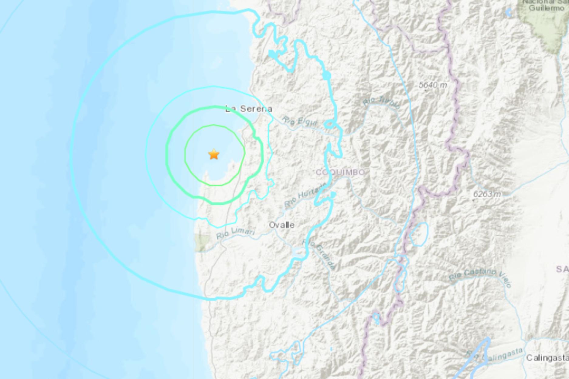 Σεισμός 5,8 Ρίχτερ στην Χιλή (pic)