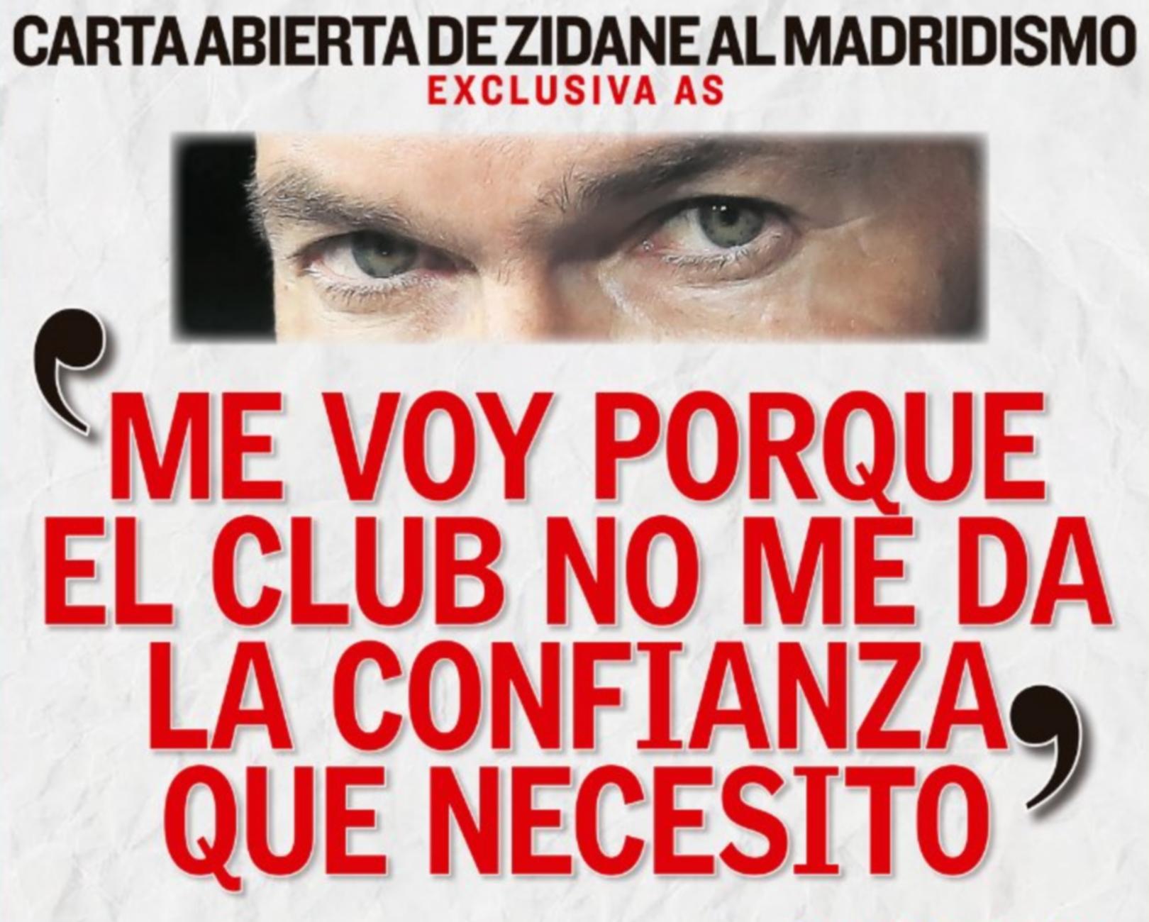 Ρεάλ Μαδρίτης: Αιχμές από τον Ζιντάν για την αποχώρησή του
