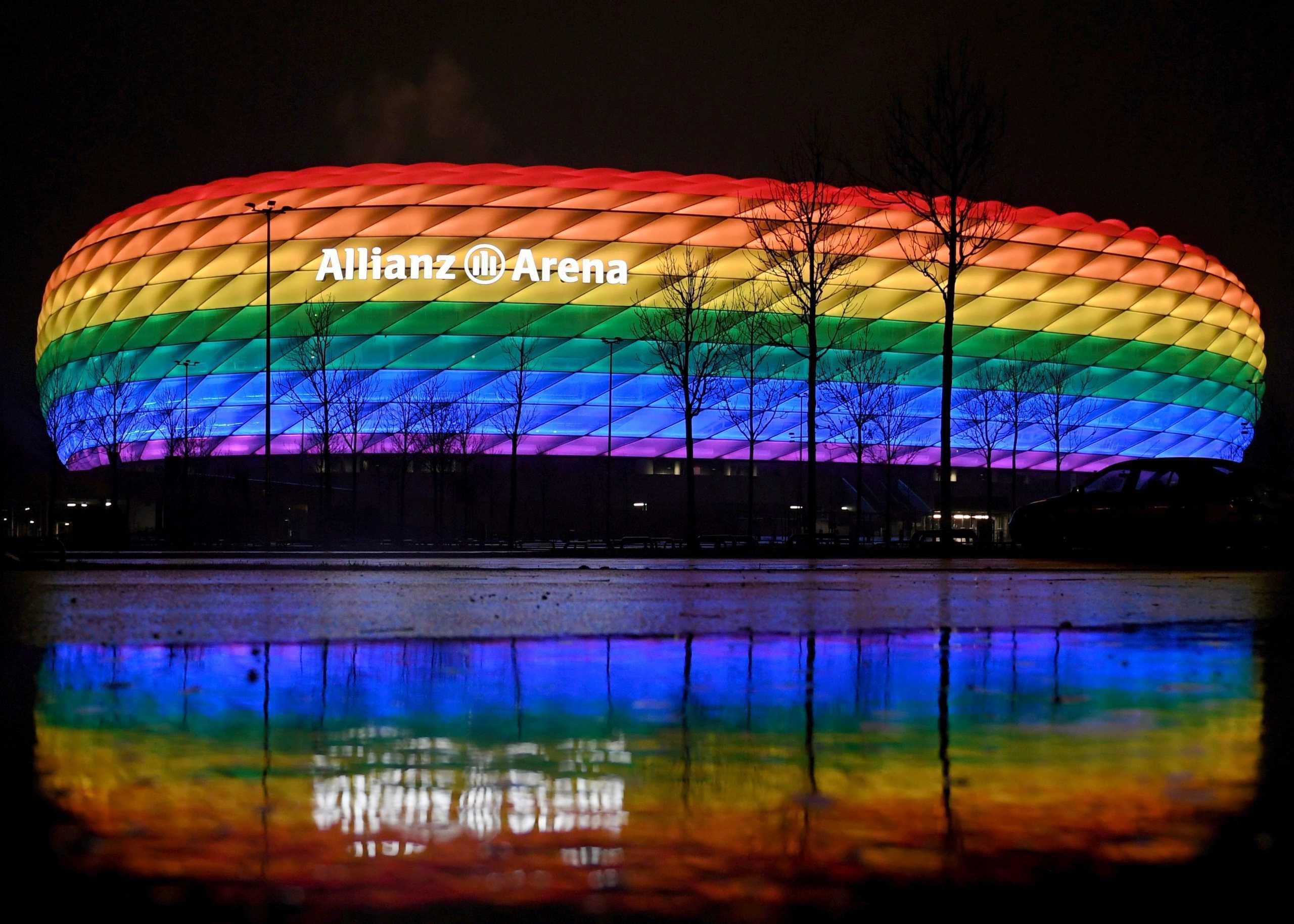 Euro 2020: Άρνηση της UEFA για φωτισμό της «Αλιάνζ Αρίνα» στα χρώματα του ουράνιου τόξου