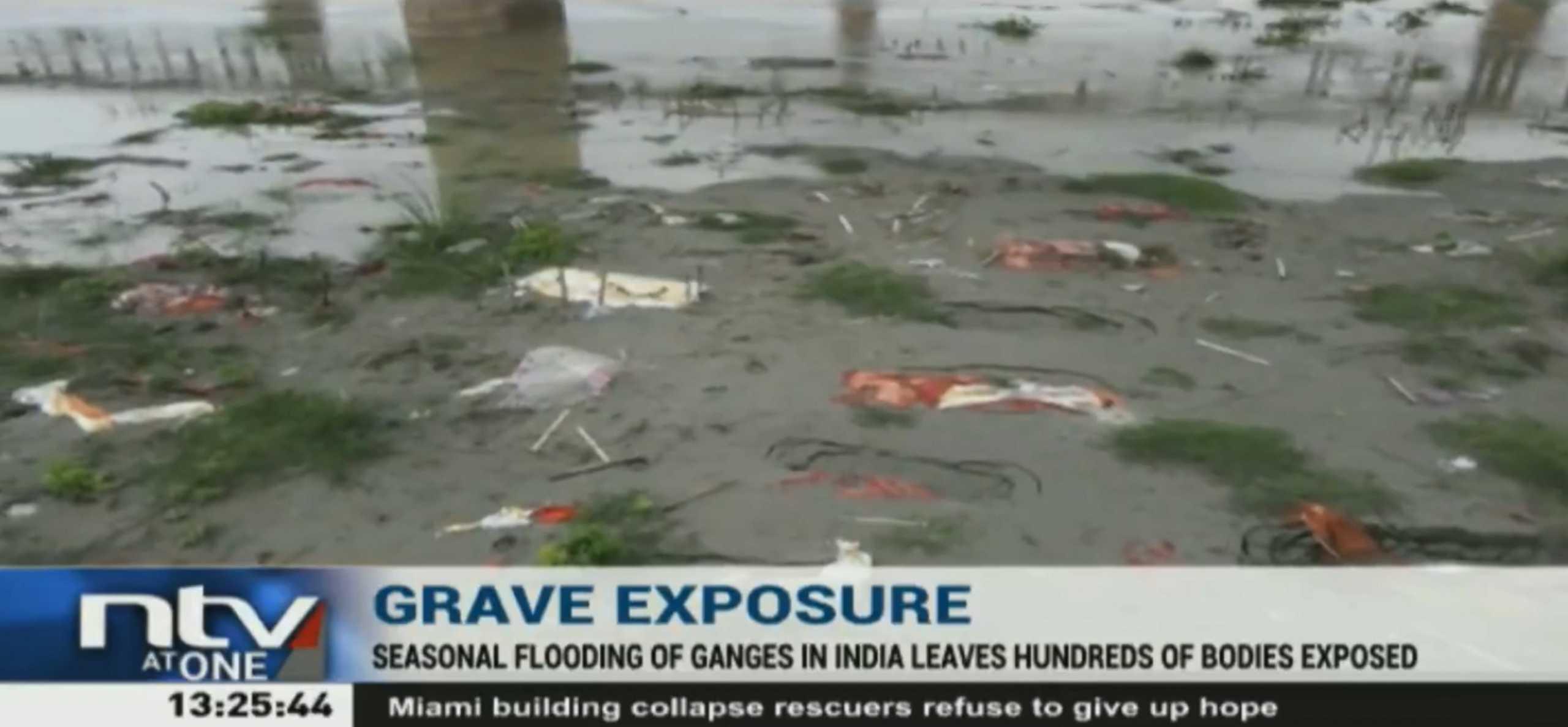 Κορονοϊός – Ινδία: Εκατοντάδες πτώματα ξεβράζει ο Γάγγης ποταμός (video)