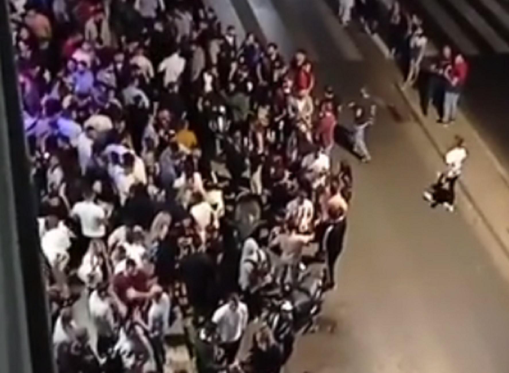 Ηράκλειο: Κορονοπάρτι και ακραίος συνωστισμός στην παραλιακή λεωφόρο