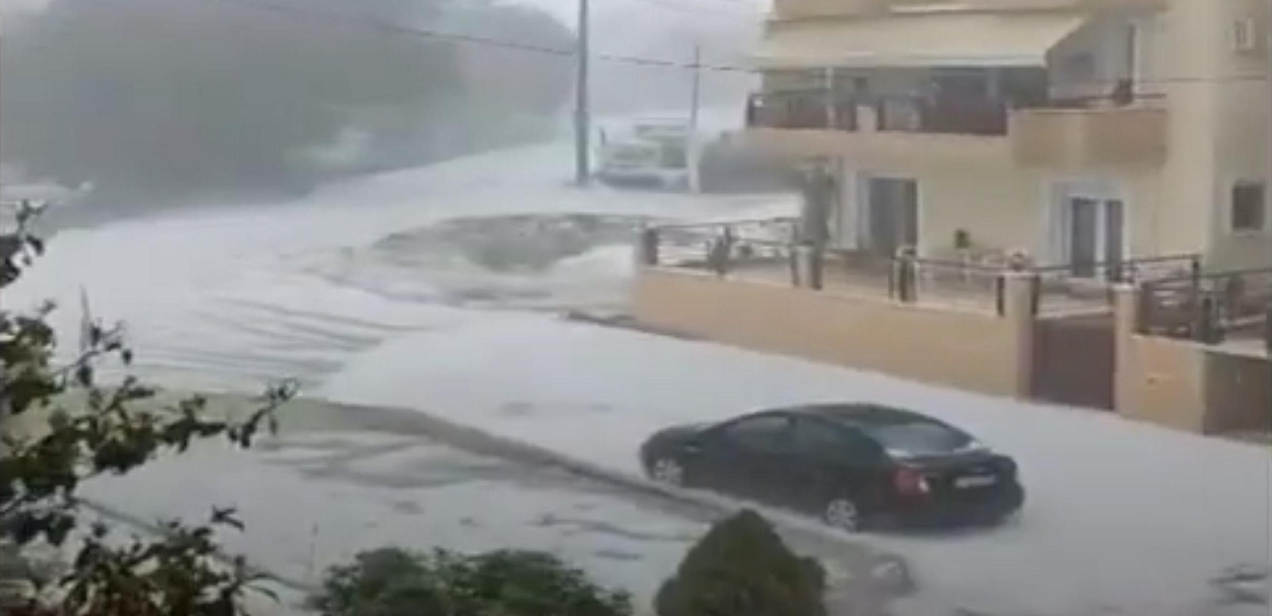 Καιρός – Κοζάνη: Καταιγίδες και ασταμάτητο χαλάζι (video)
