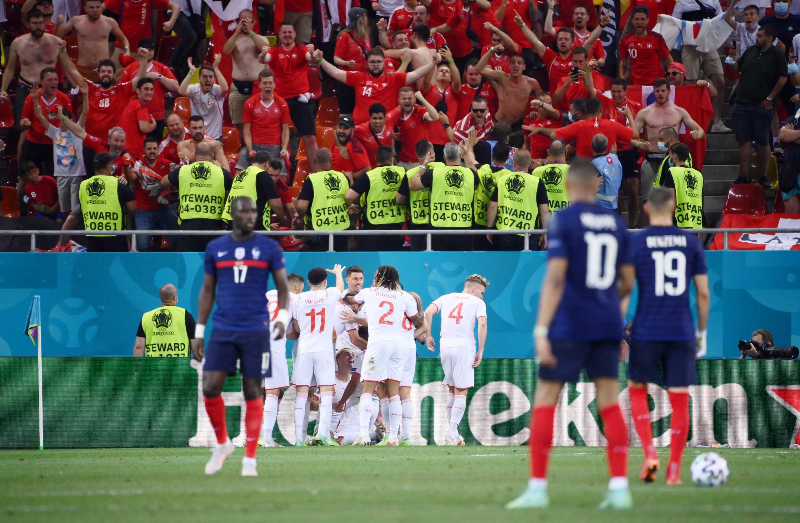 Euro 2020, Γαλλία – Ελβετία 3-3: «Βόμβα» και αποκλεισμός για την παγκόσμια πρωταθλήτρια στα πέναλτι (5-4)