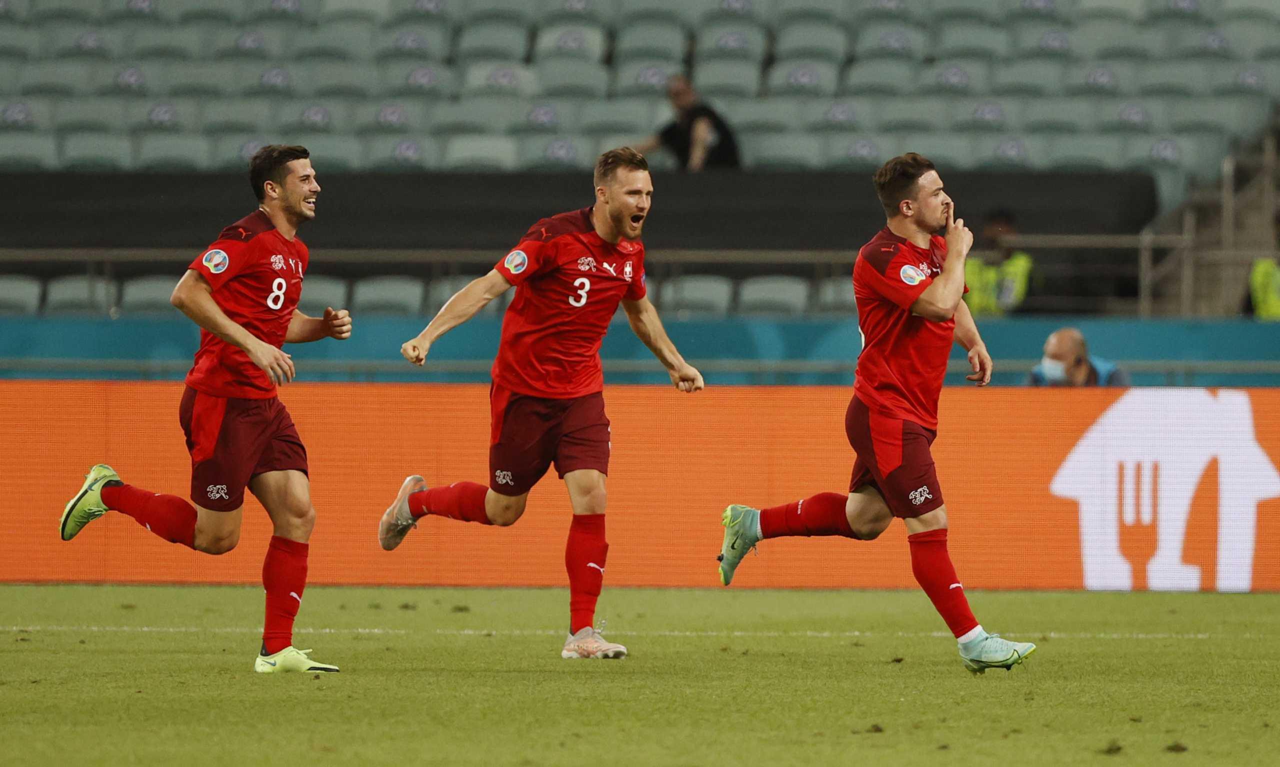 Euro 2020, Ελβετία – Τουρκία: Το «τούβλο» του Σακίρι για το 2-0