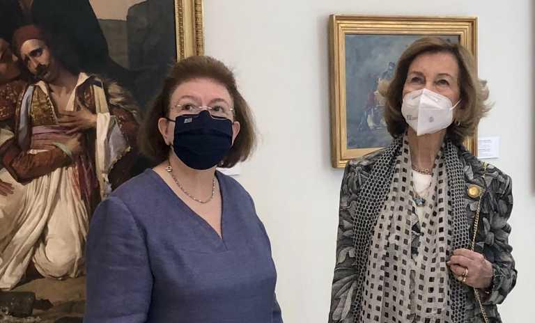 Η Σοφία της Ισπανίας στην πλήρως ανακαινισμένη Εθνική Πινακοθήκη - Τη συνοδεύει η αδελφή της πριγκίπισσα Ειρήνη (pic)