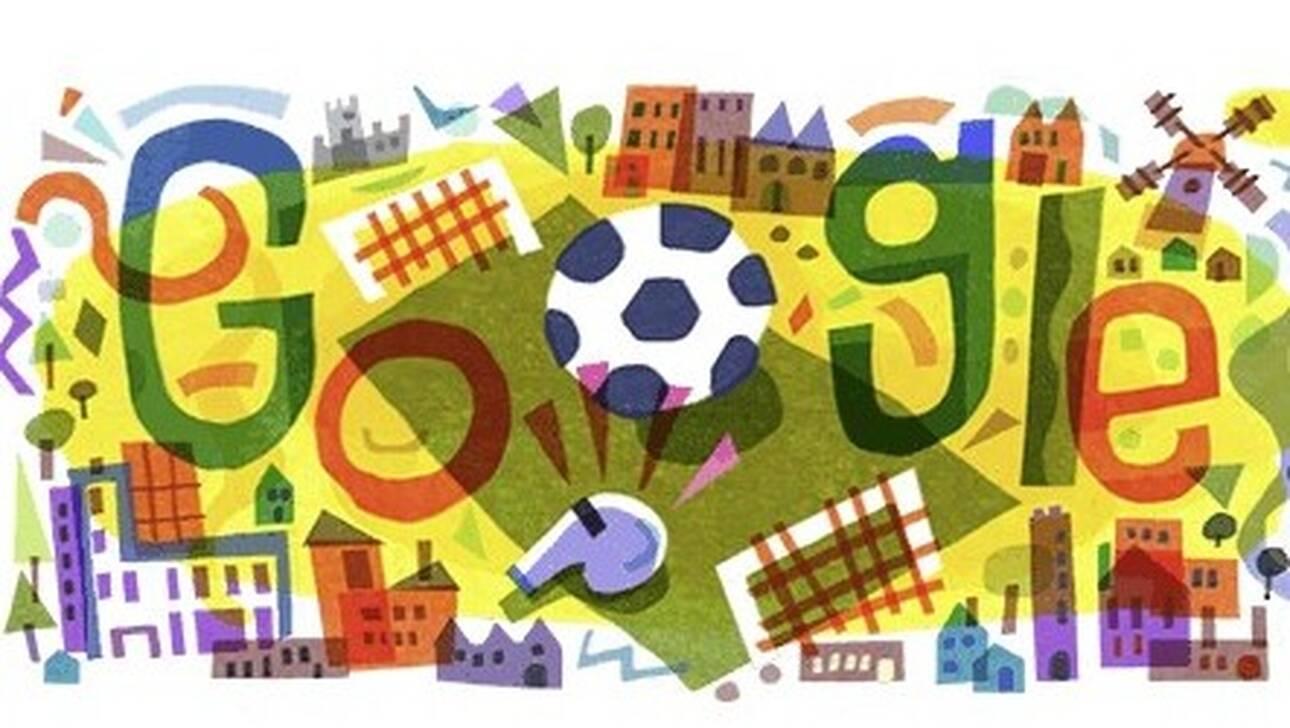 Euro 2020:Η Google «σφυρίζει» με ένα doodle την έναρξη της ευρωπαϊκής ποδοσφαιρικής γιορτής