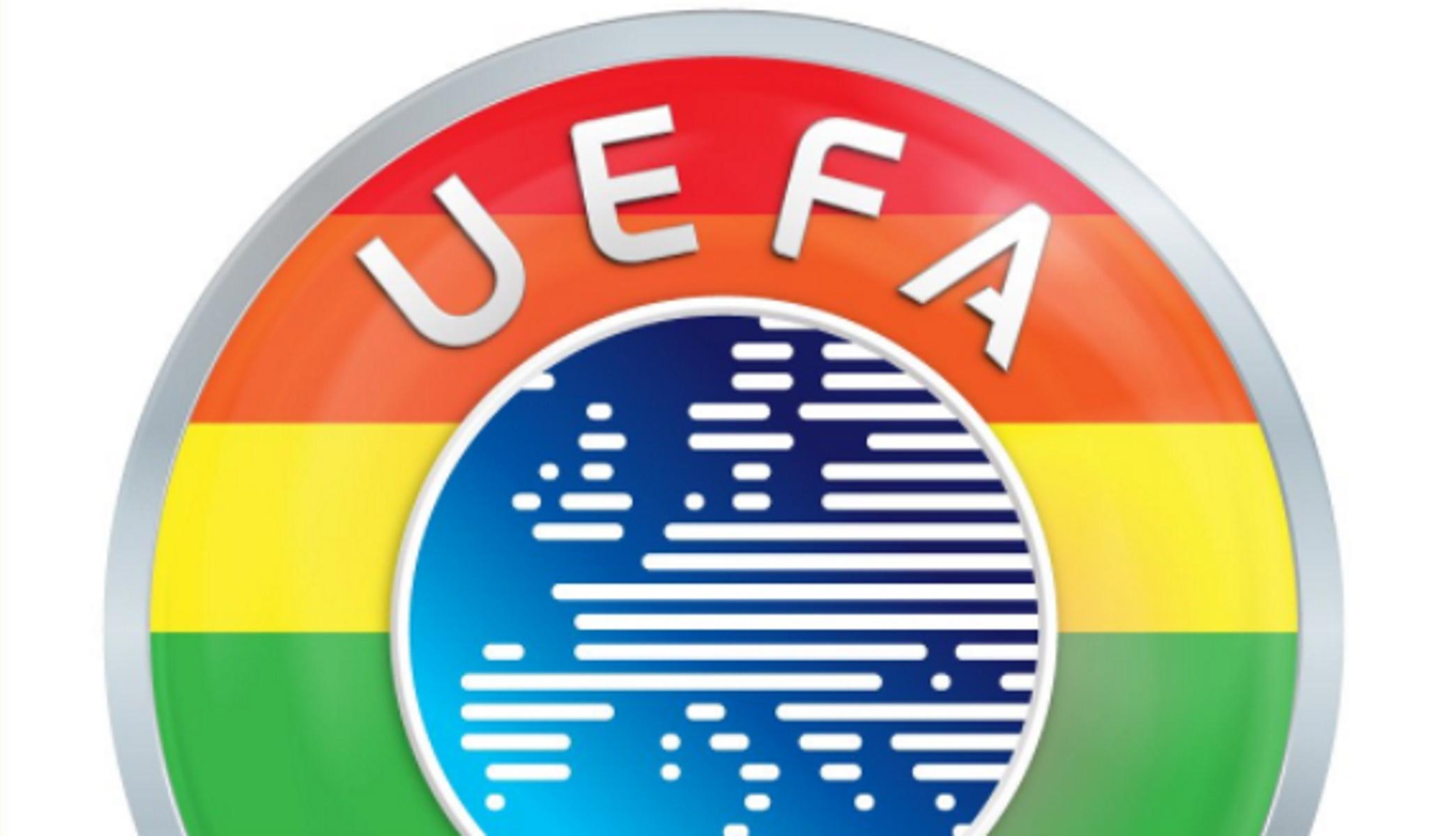 Η UEFA «έβαψε» το σήμα της στα χρώματα του ουράνιου τόξου