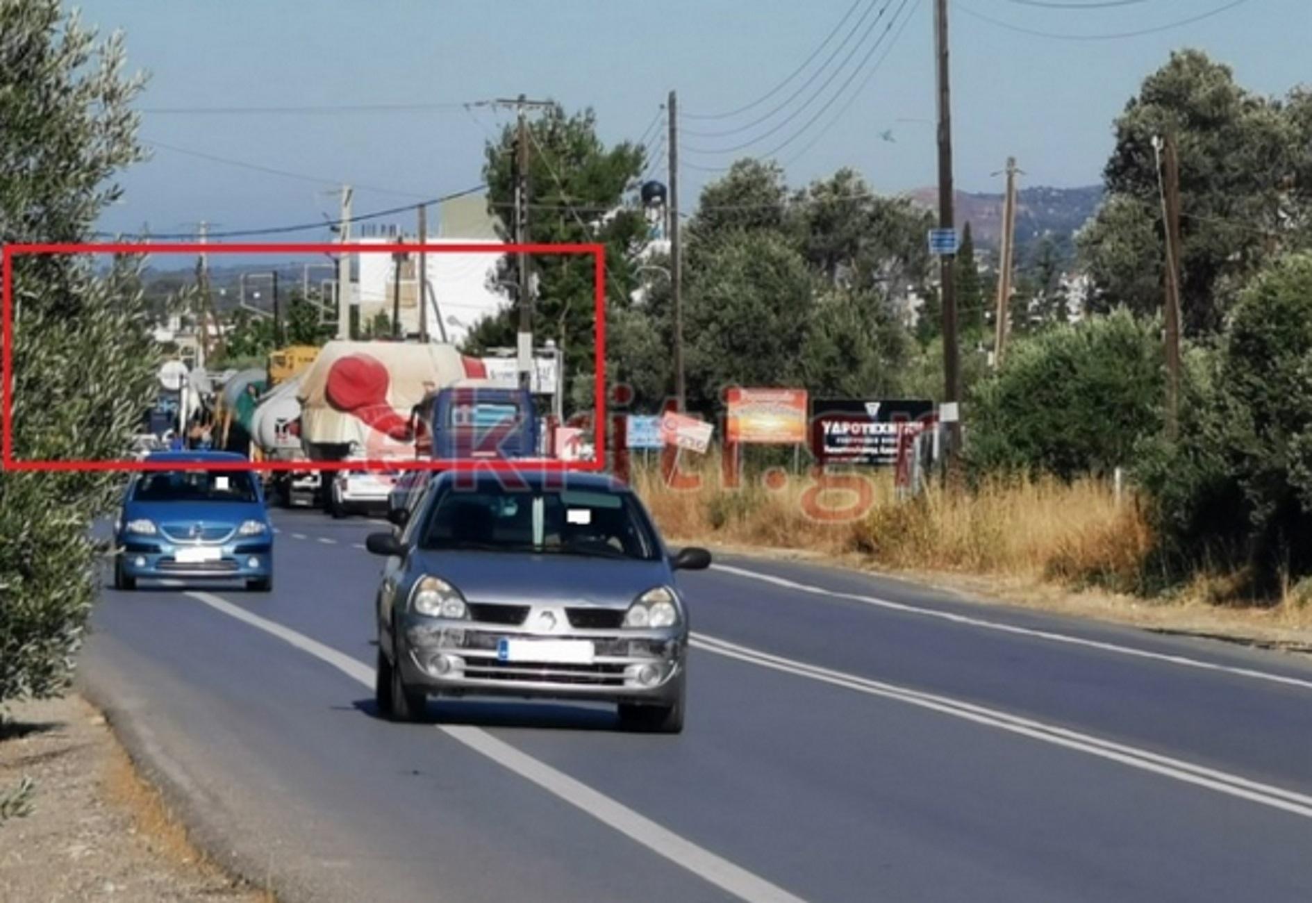 Κρήτη: Ακινητοποιήθηκε κομβόι με ανεμογεννήτριες – Οι εικόνες που ξεσήκωσαν τις Μοίρες