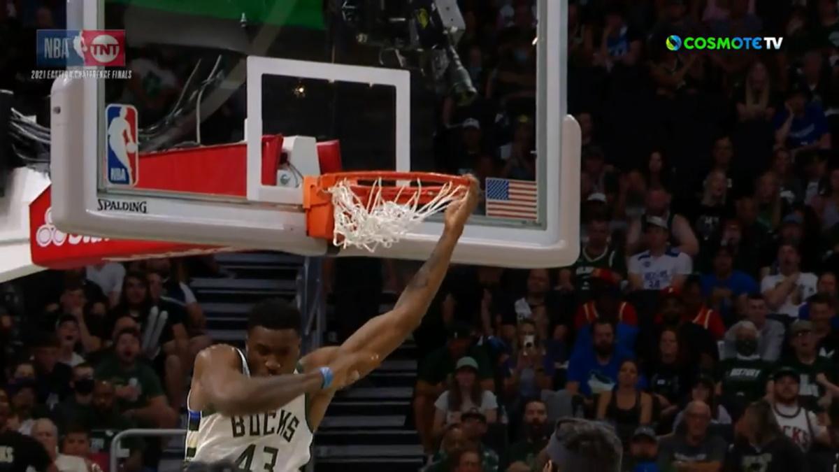NBA: Το απίθανο κάρφωμα του Θανάση Αντετοκούνμπο κι η επική αντίδραση του Γιάννη