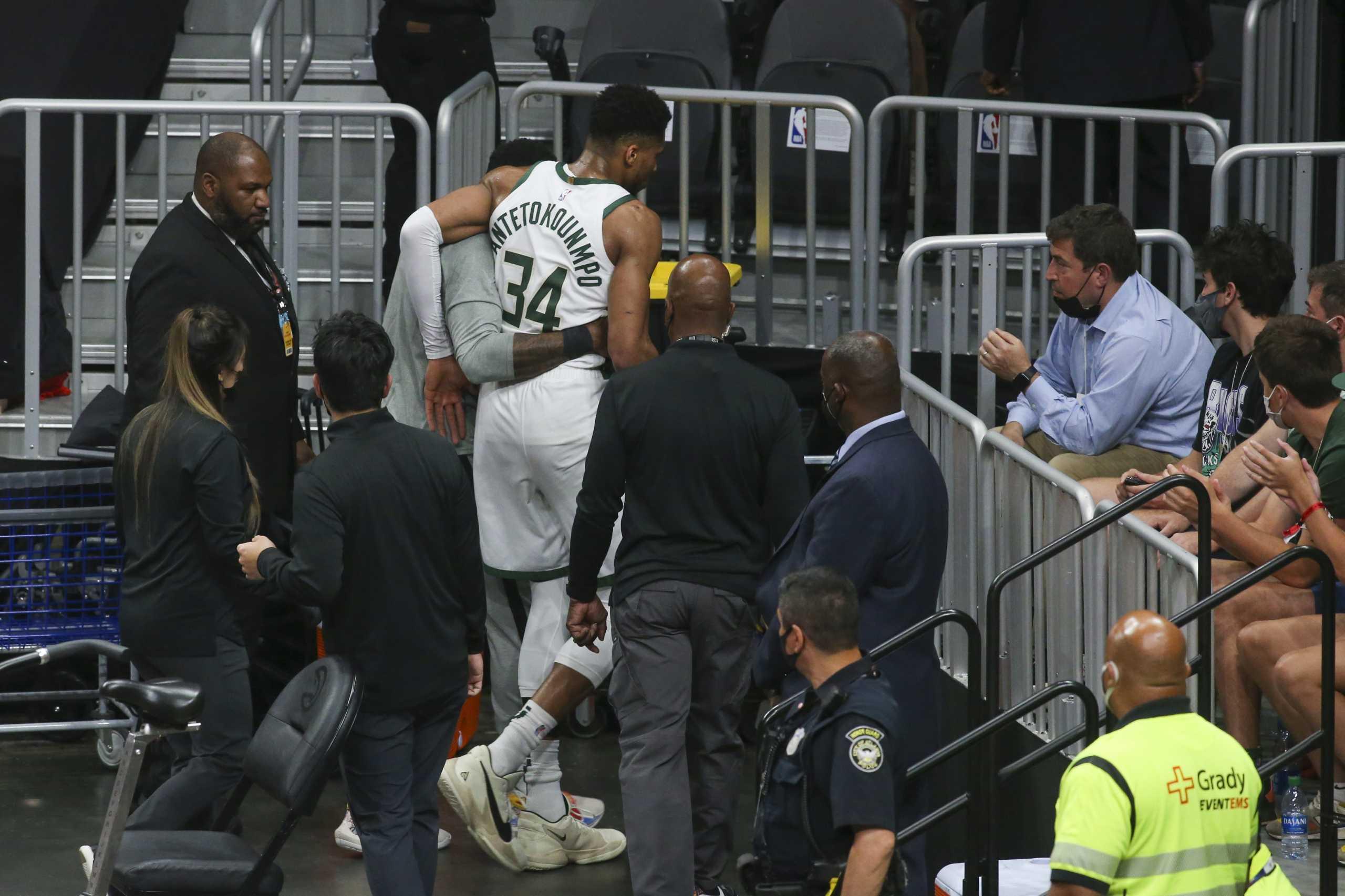 Γιάννης Αντετοκούνμπο: Συγκλονισμένος ο αθλητικός κόσμος για τον τραυματισμό του Έλληνα φόργουορντ