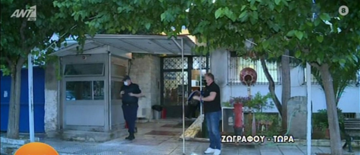 Επίθεση στο ΑΤ Ζωγράφου: Πέταξαν πέτρες και ξύλα – Έσπασε η τζαμαρία(vid)