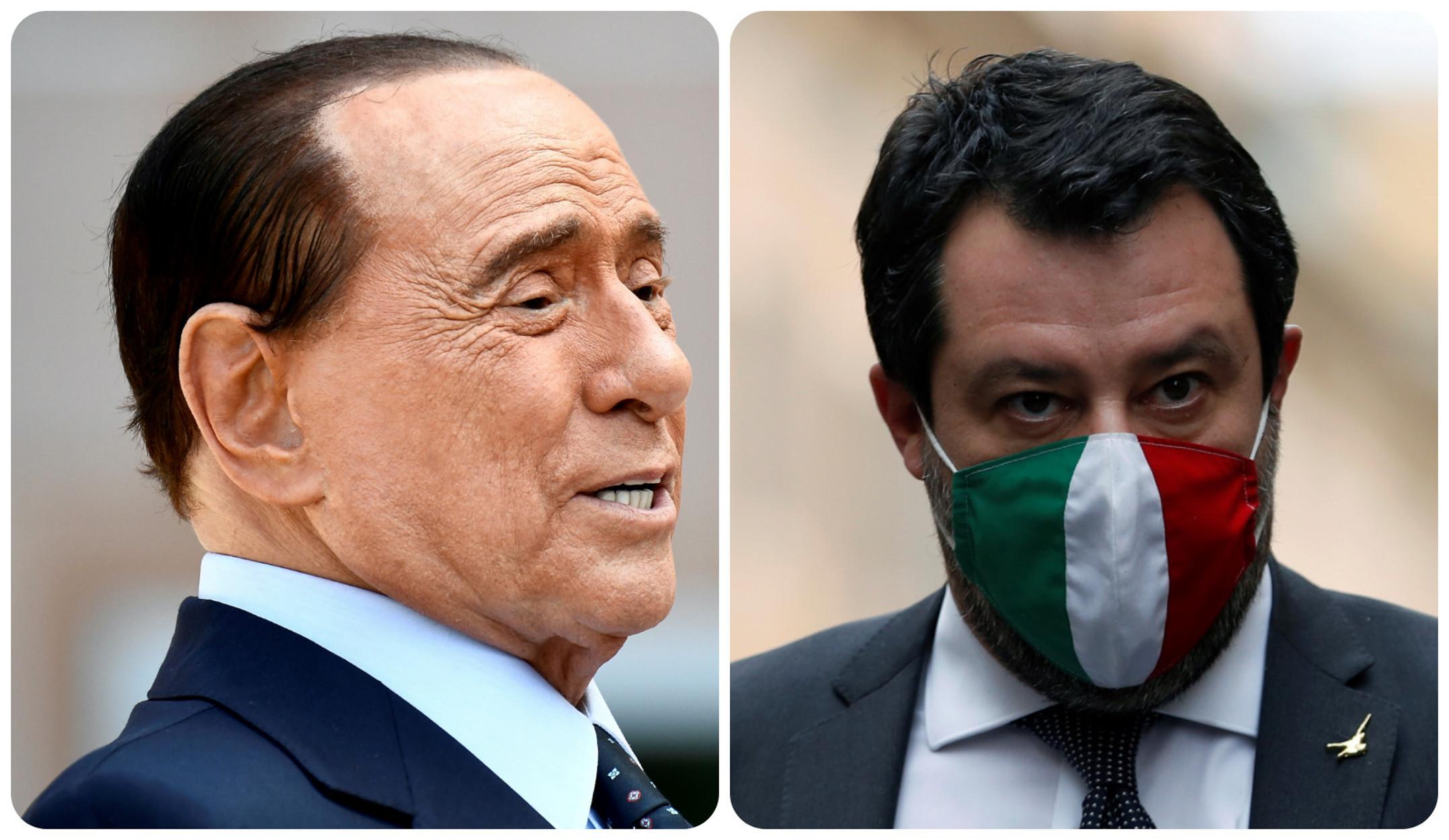 Σίλβιο Μπερλουσκόνι και Ματέο Σαλβίνι ενώνουν τα κόμματά τους