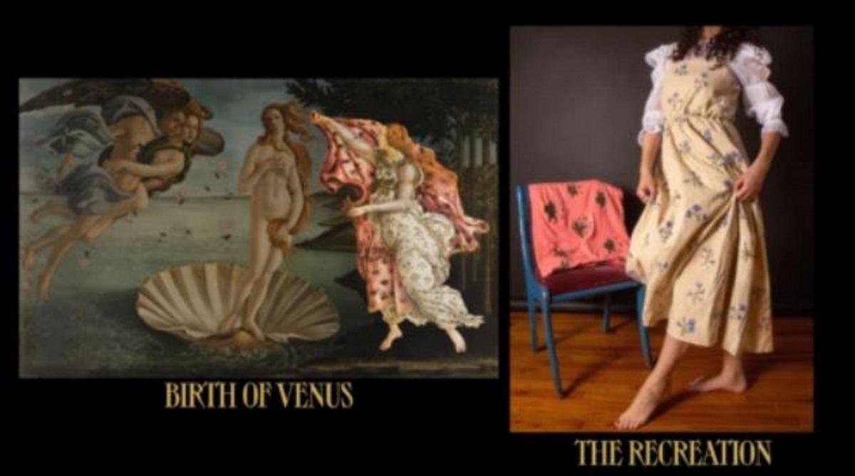 Πωλείται το «φόρεμα» του πίνακα του Μποτιτσέλι «Η Γέννησης της Αφροδίτης» (vid)