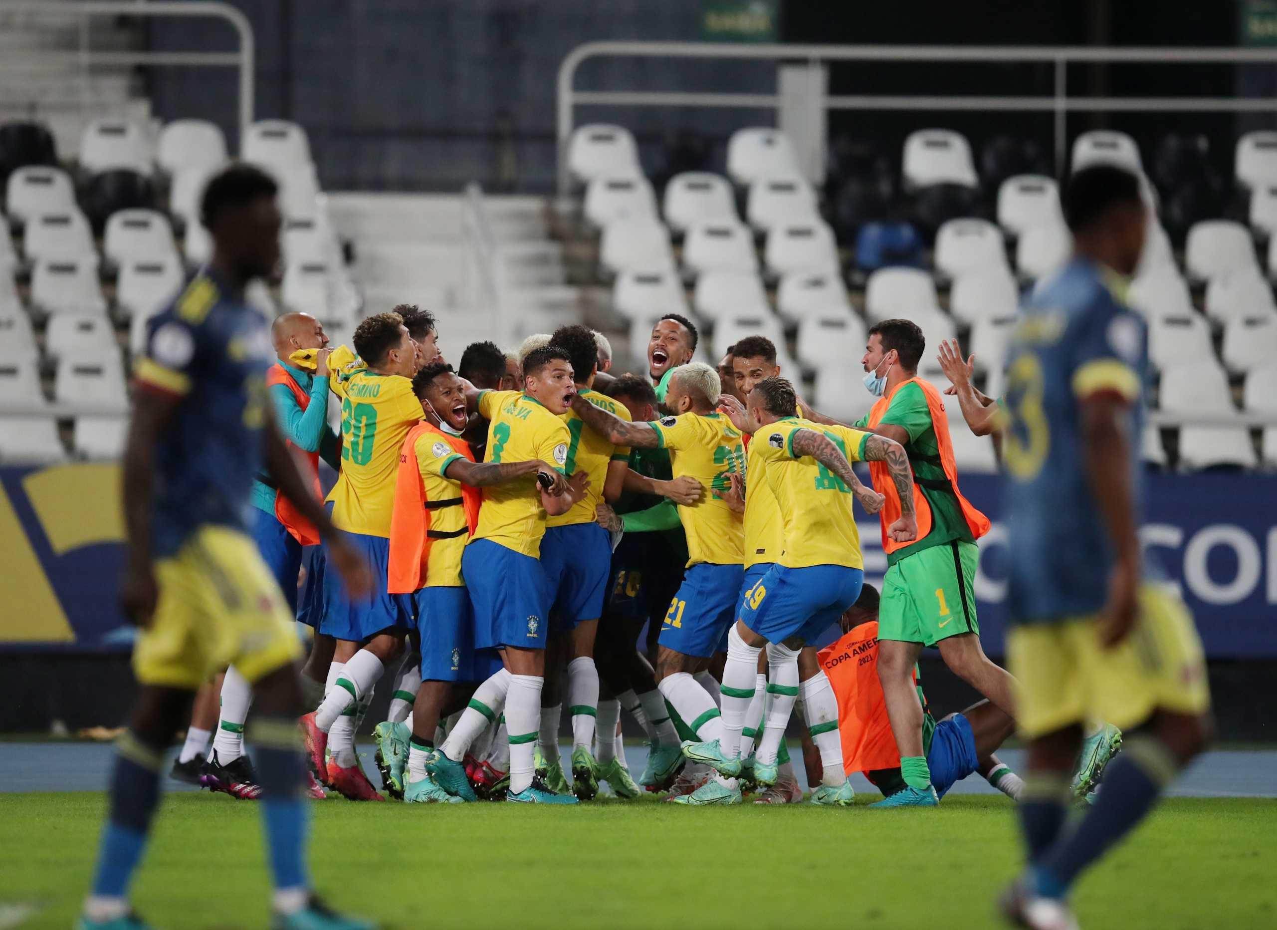 Copa America: Με ανατροπή στο 100ο λεπτό η Βραζιλία νίκησε την Κολομβία