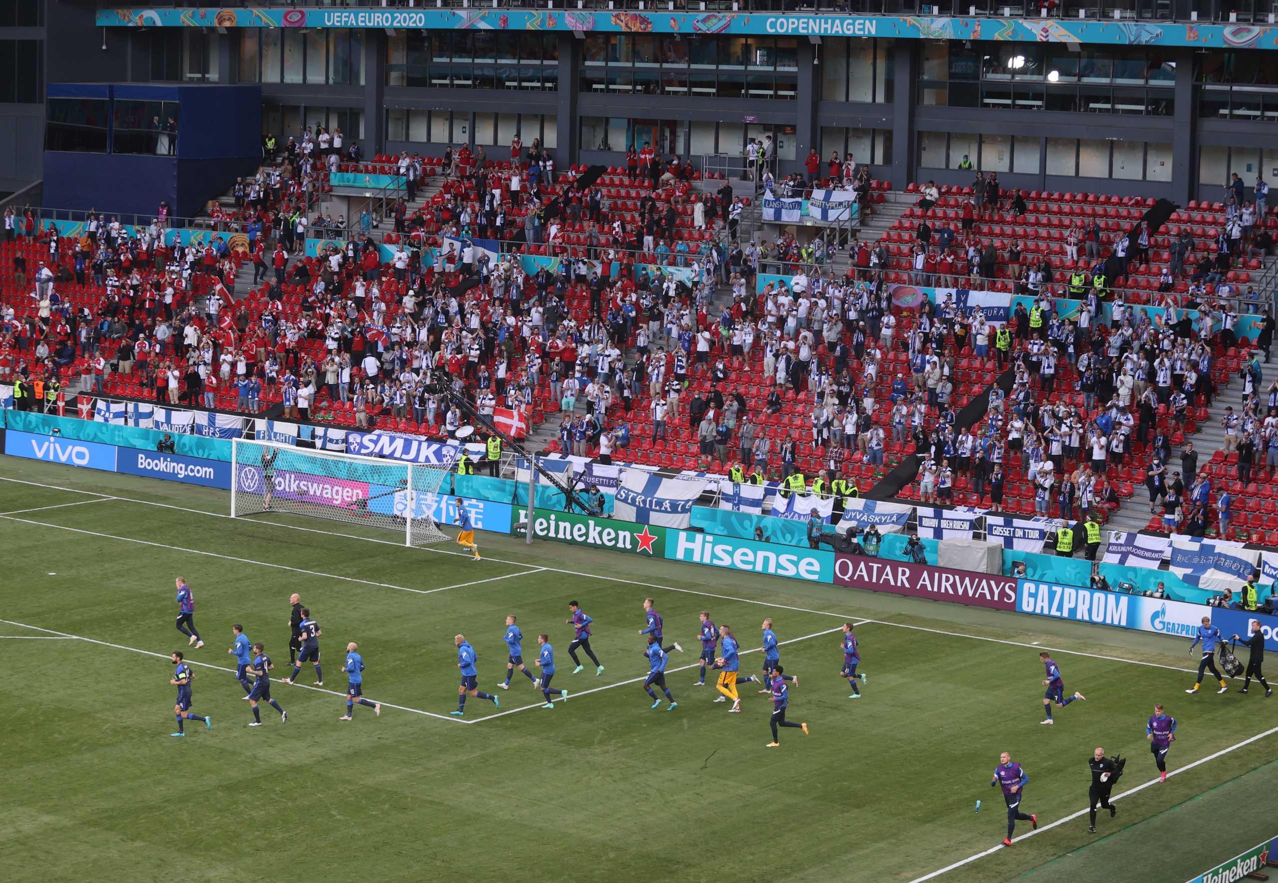 Έρικσεν: Θα συνεχιστεί το Δανία – Φινλανδία – Ζεσταίνονται οι ομάδες