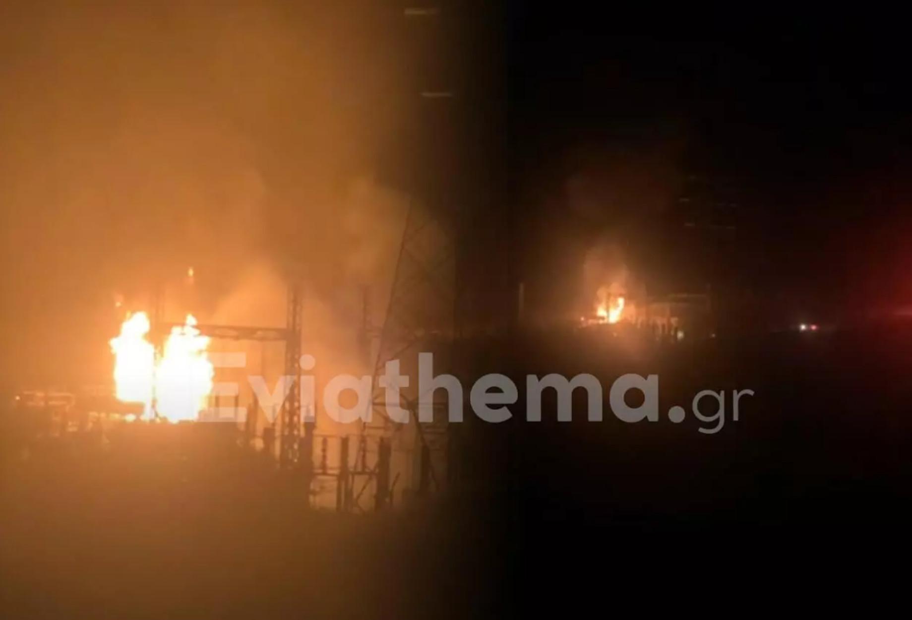 Εύβοια: Φωτιά στον υποσταθμό της ΔΕΗ στον Αργυρό – Χωριά έμειναν χωρίς ρεύμα