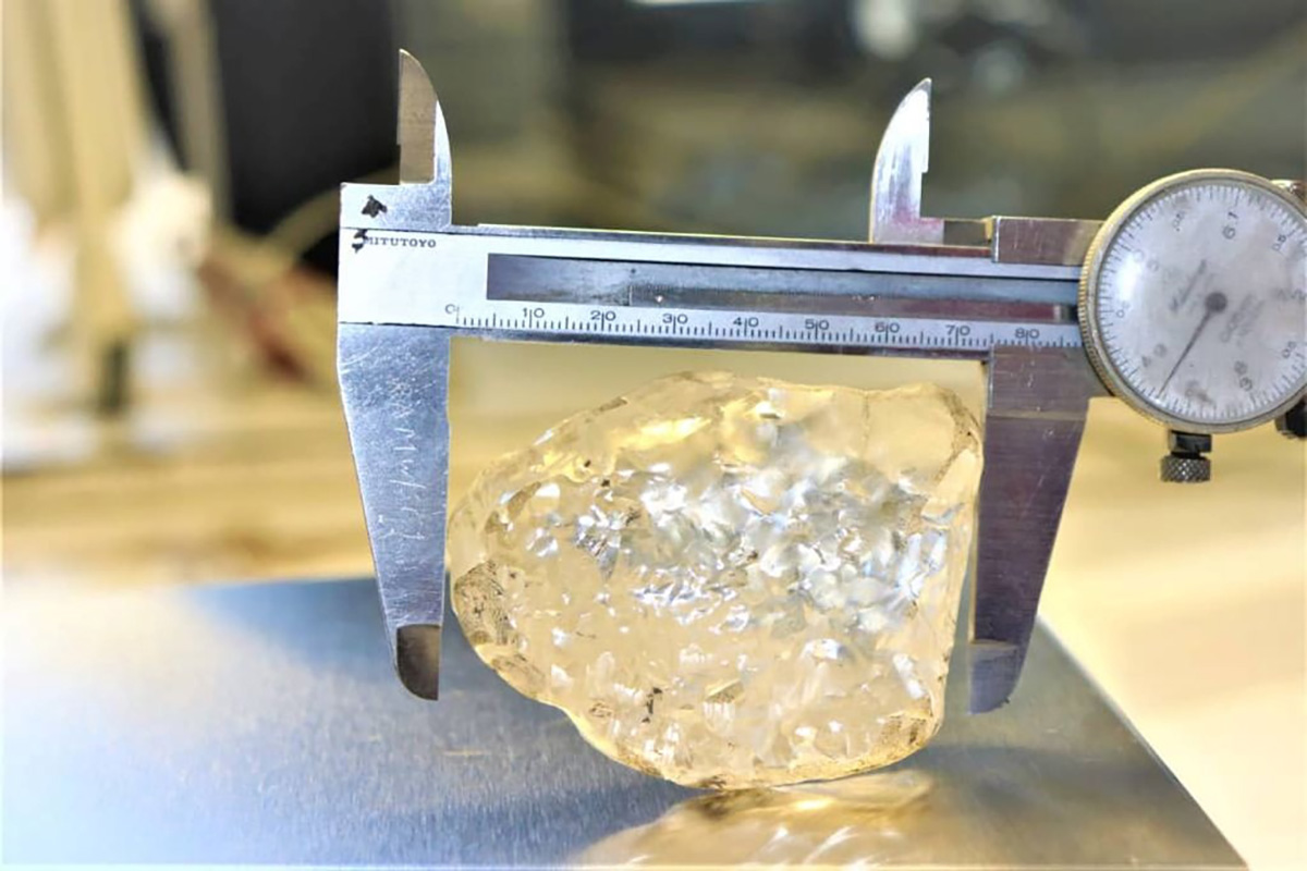 Βρέθηκε το τρίτο μεγαλύτερο διαμάντι στον κόσμο βάρους 1.098 καρατίων