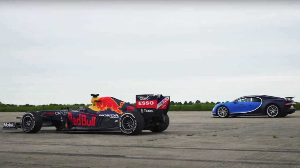 Μπορεί η Bugatti Chiron να ανταγωνιστεί ένα μονοθέσιο της Formula 1; (video)