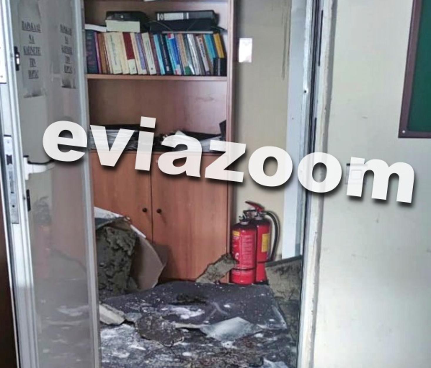 Χαλκίδα: Έκρηξη στο Δημαρχείο Βασιλικού (pics)