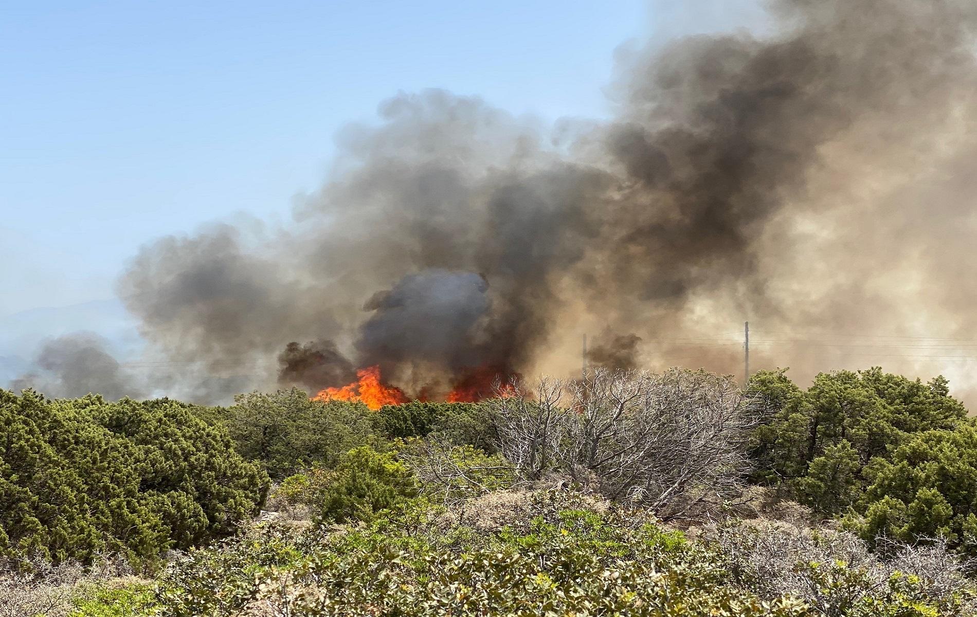 Λέσβος: Φωτιά απείλησε στρατόπεδο – Βραχυκύκλωμα τύλιξε στις φλόγες αποθήκη με στρατιωτικά έγγραφα
