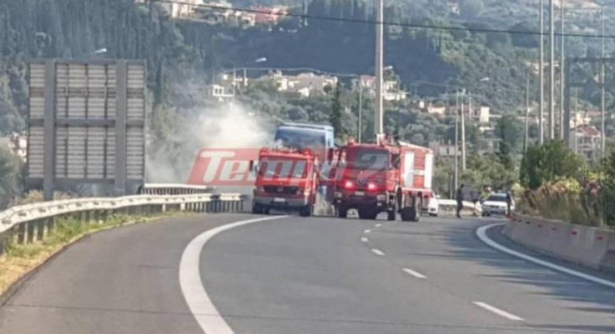Πανικός στην Πάτρα με φλεγόμενο βυτιοφόρο: Μεγάλη η κινητοποίηση της Πυροσβεστικής (pics)