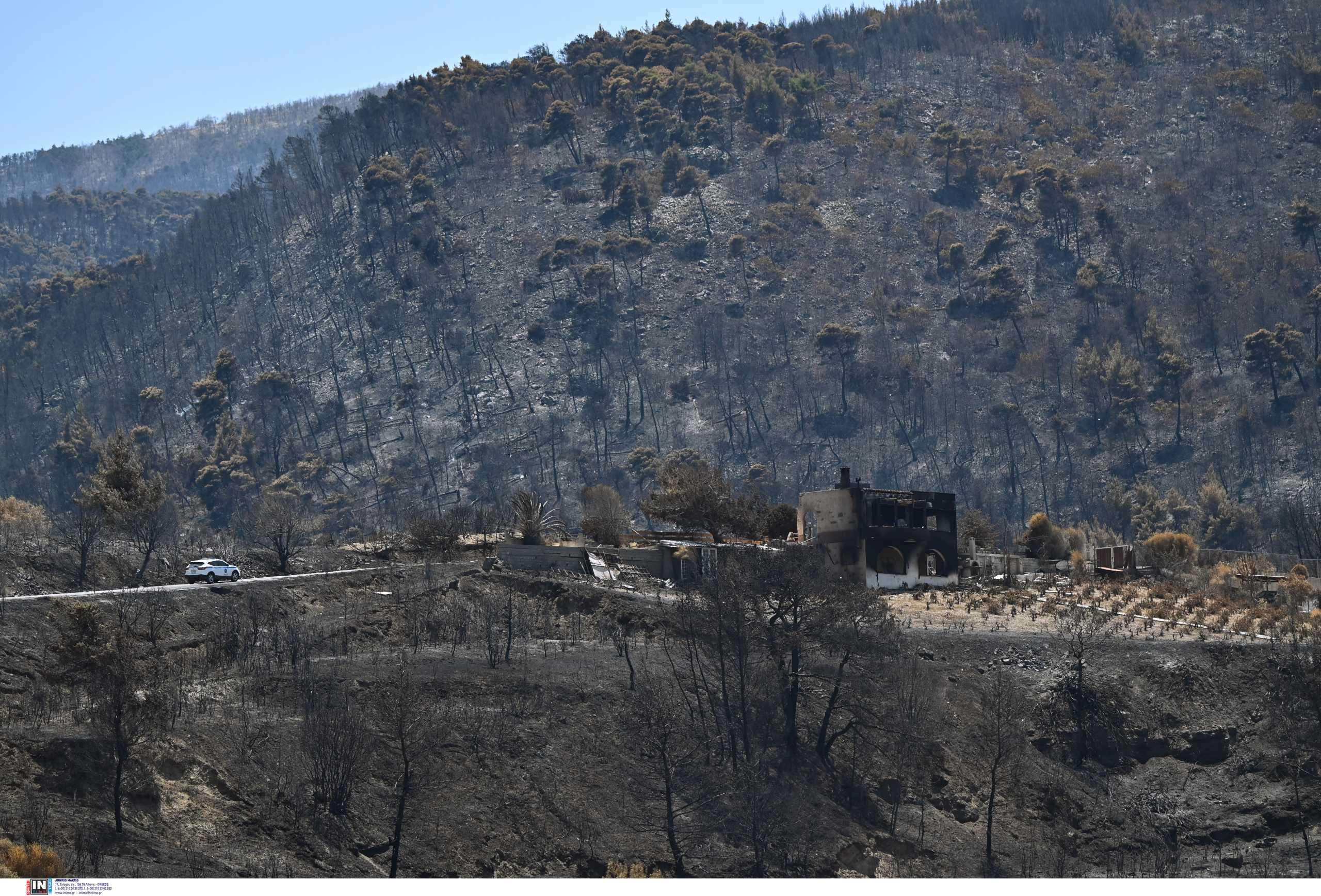 Γεράνεια Όρη: Κίνδυνος για πλημμύρες, κατολισθήσεις και λασπορροές στην περιοχή μετά την καταστροφική φωτιά
