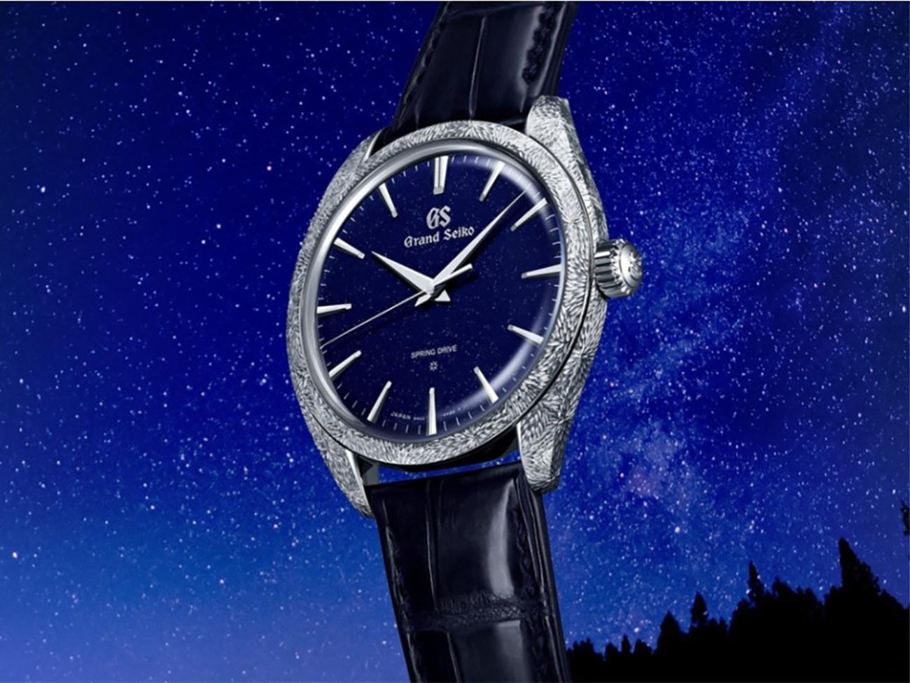 Το νέο ρολόι της Grand Seiko διαθέτει ένα καντράν που θυμίζει νυχτερινό ουρανό