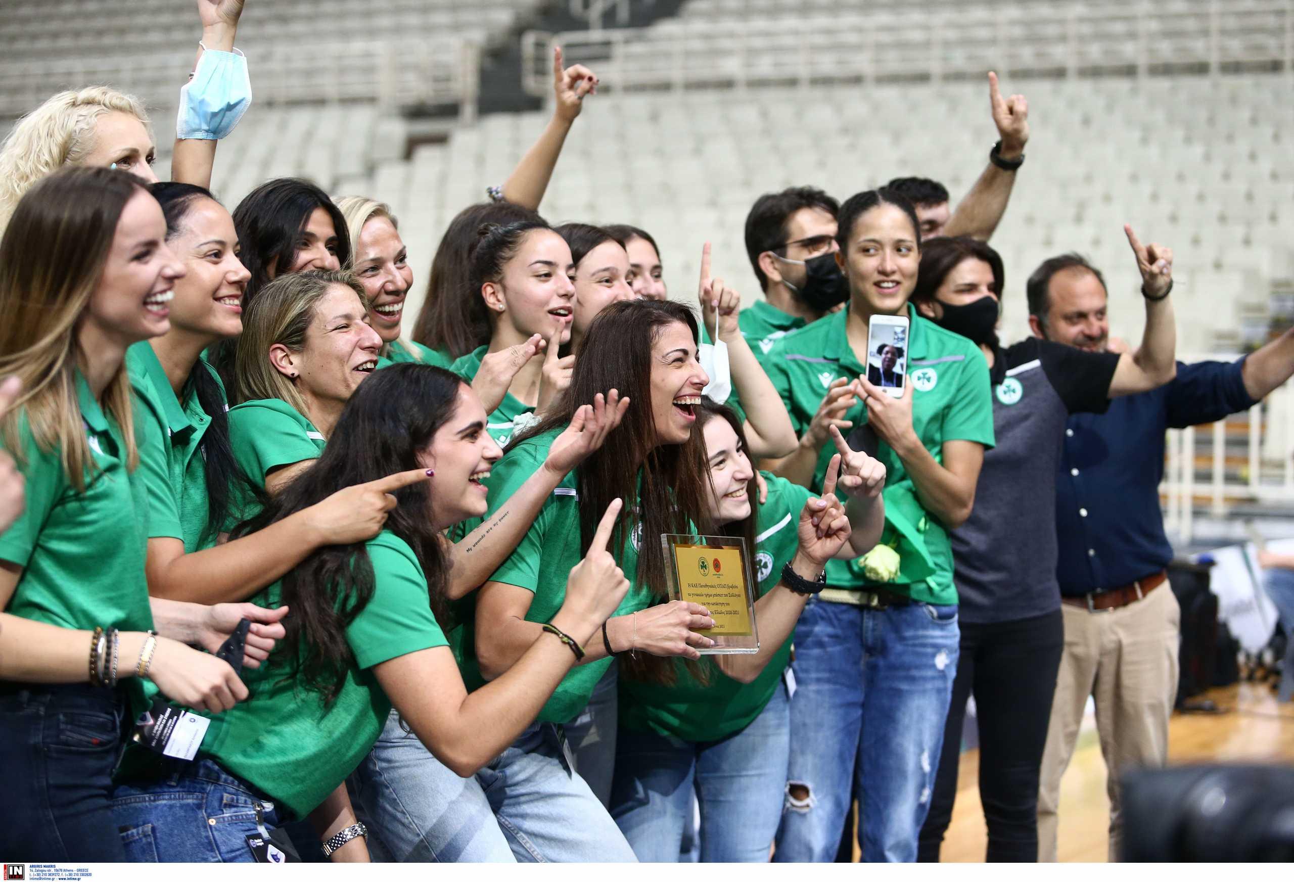 Η ΚΑΕ Παναθηναϊκός βράβευσε τις πρωταθλήτριες του μπάσκετ γυναικών
