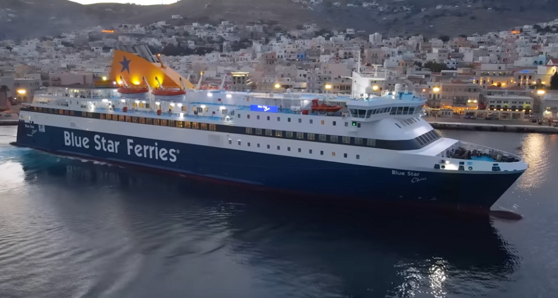 Σύρος: Ο καπετάνιος του Blue Star Chios έκανε κινήσεις χειρουργικής ακρίβειας ξανά – Δείτε το βίντεο