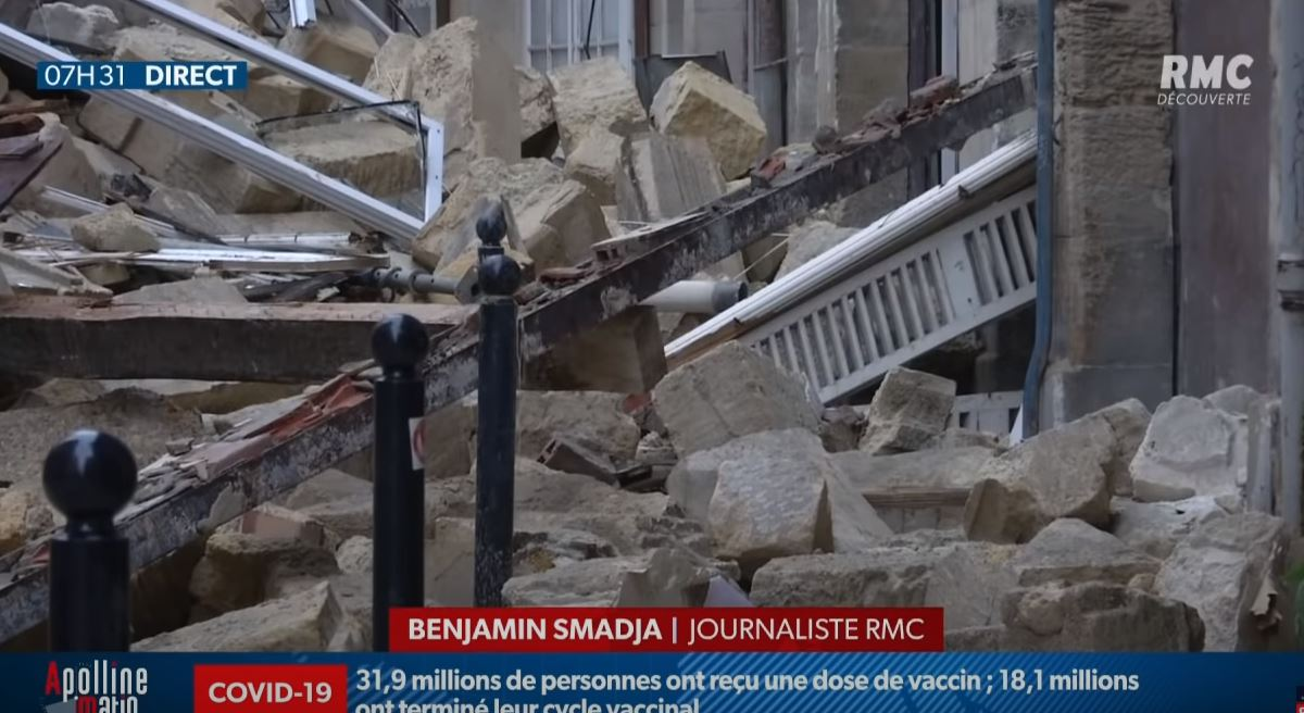 Γαλλία: Κατέρρευσαν κτίρια στο κέντρο του Μπορντό – Τρεις τραυματίες (vids)