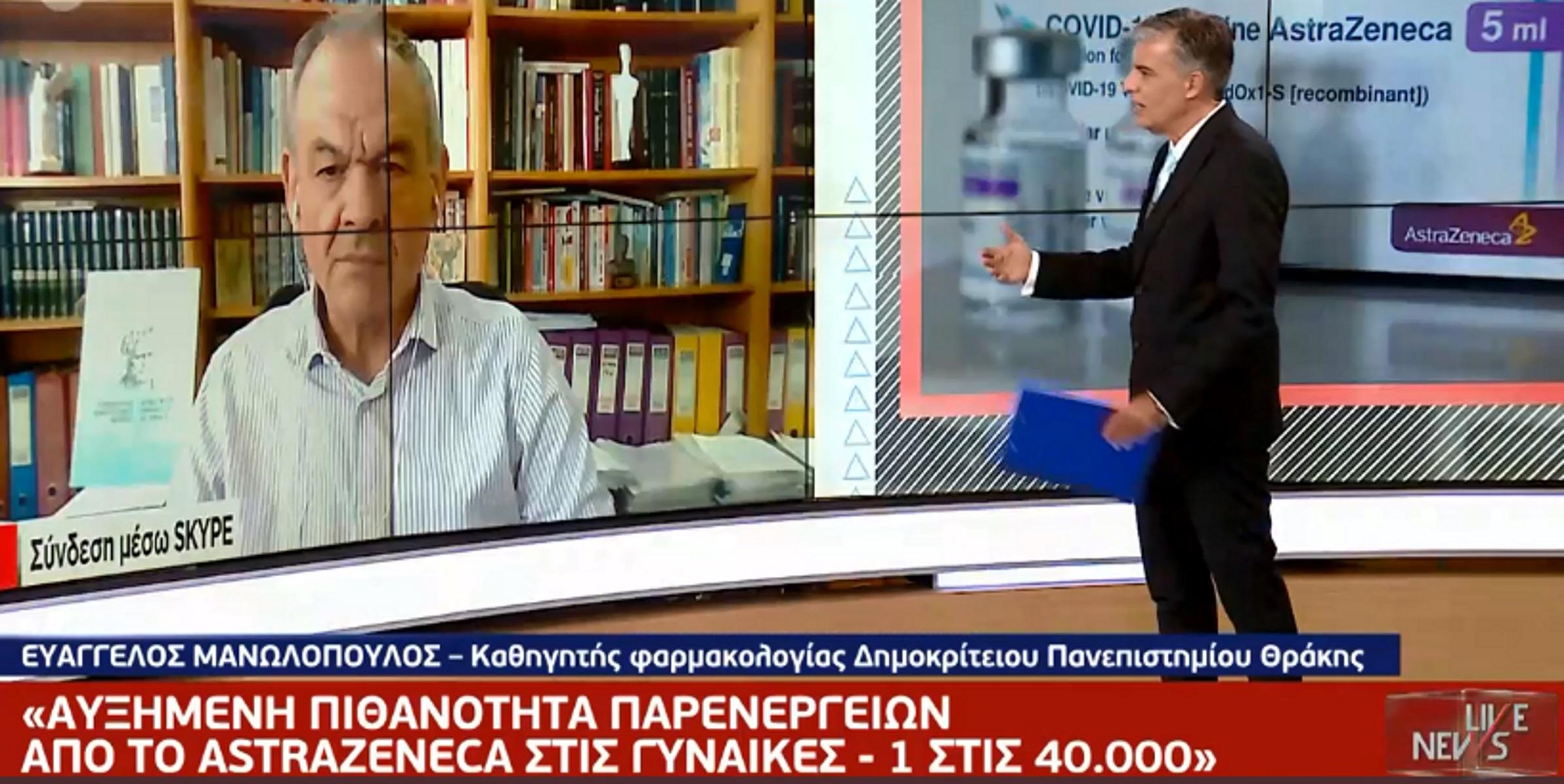 Ευάγγελος Μανωλόπουλος: Απαντήσεις για το AstraZeneca – Ποιοι να κάνουν τη δεύτερη δόση