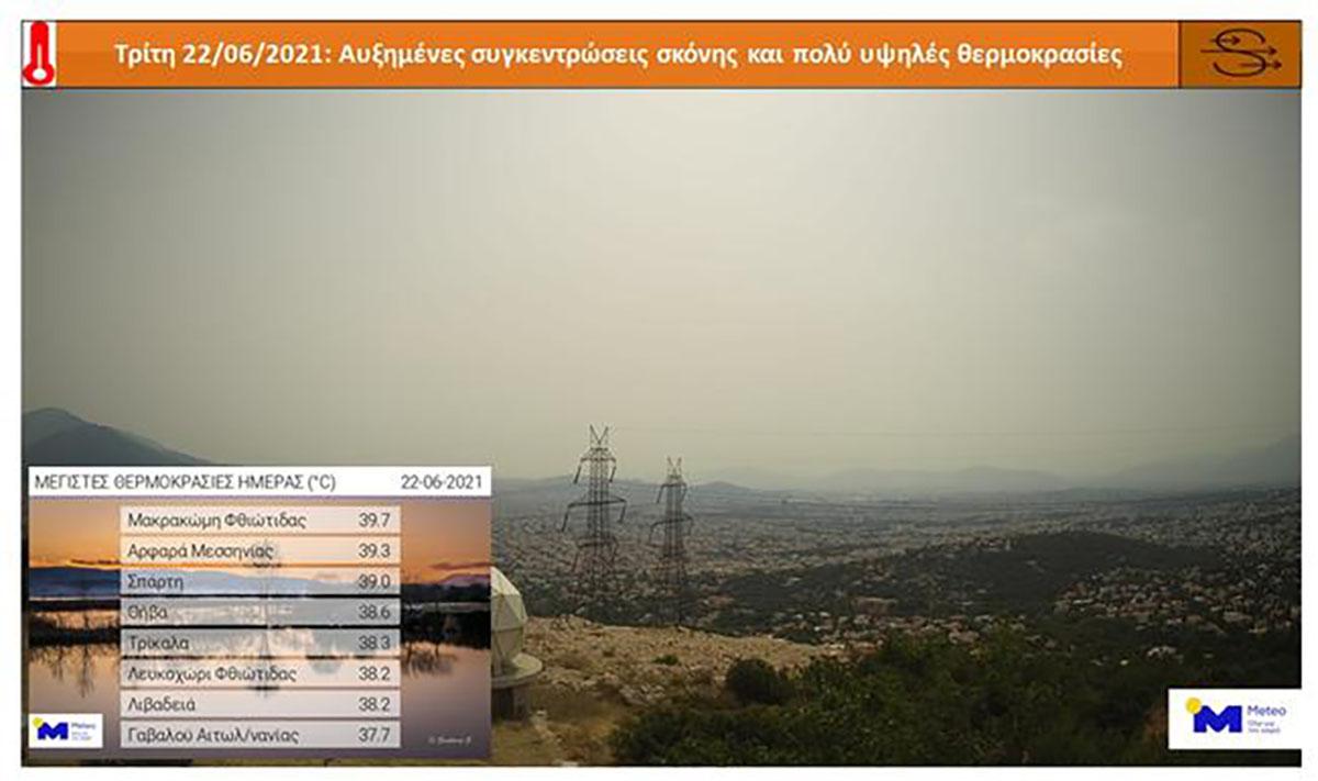 Καιρός: Σε ποιες πόλεις άγγιξε τους 40 βαθμούς ο υδράργυρος – Υψηλές συγκεντρώσεις σκόνης