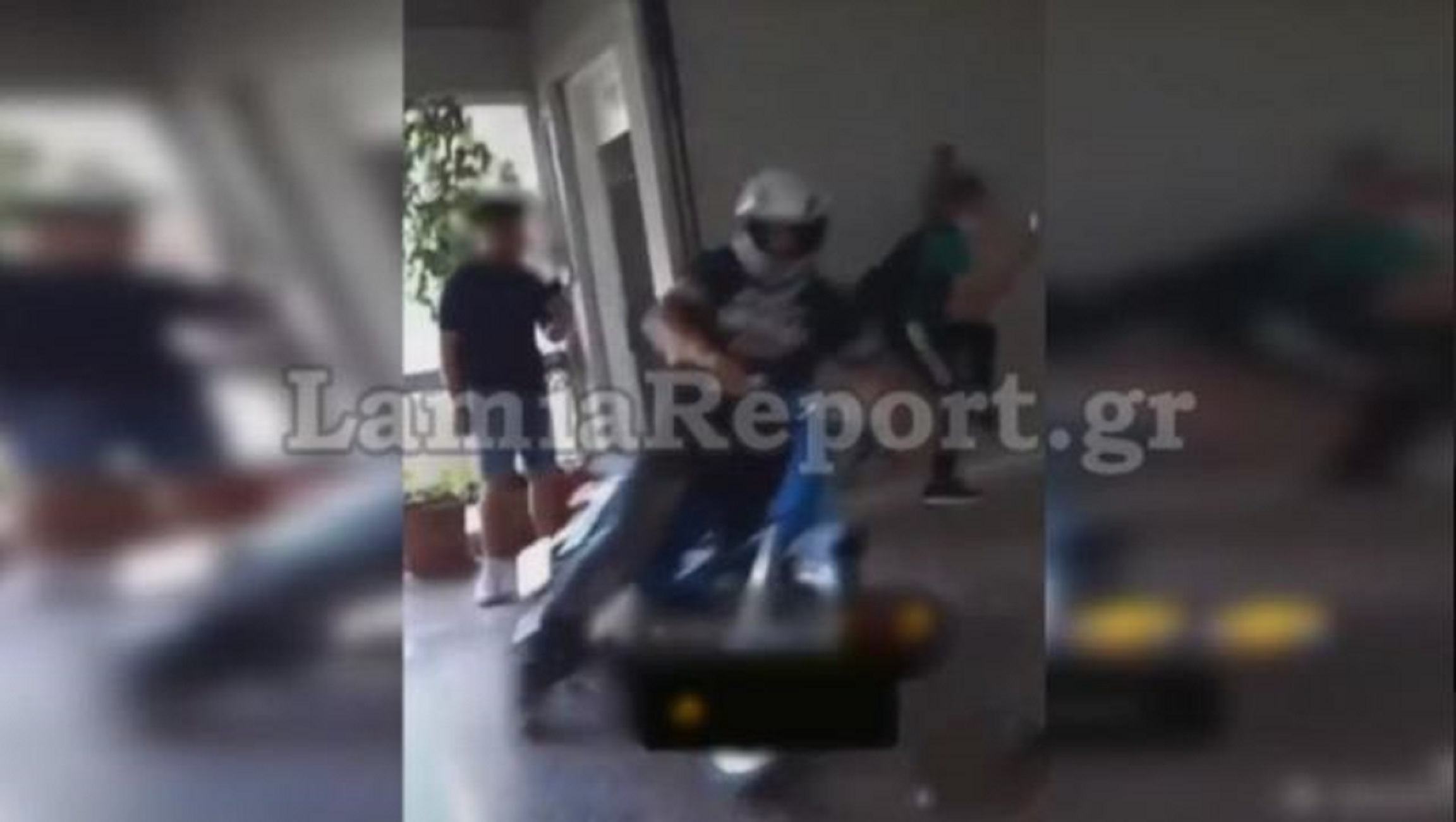 Λαμία: Μπήκε με το μηχανάκι στο σχολείο και τον κυνηγούσαν στις τάξεις (video)