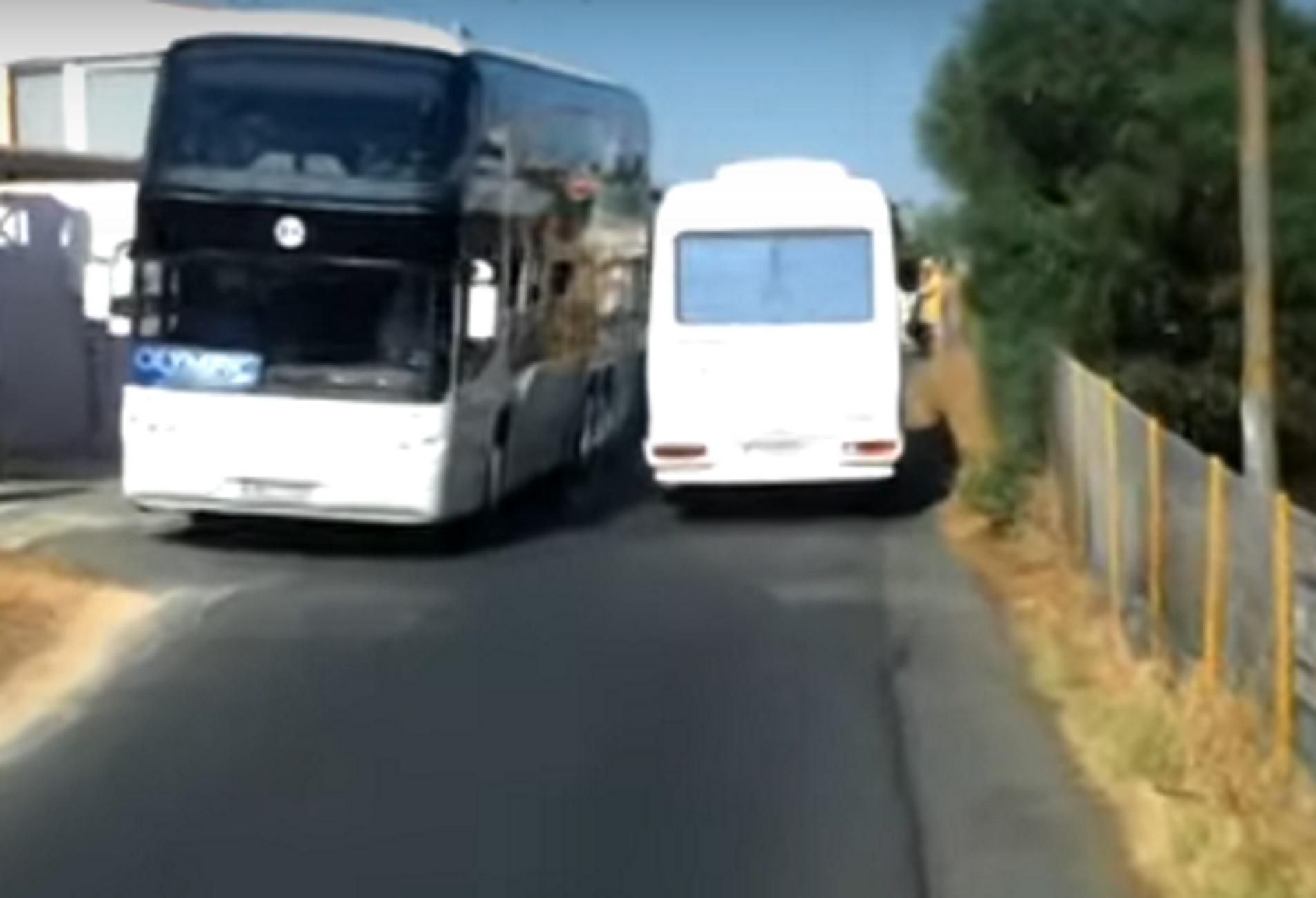 Κρήτη: Βίντεο ντοκουμέντο με εικόνες που άφησαν άφωνους τους τουρίστες – Το πούλμαν πήγαινε ανάποδα