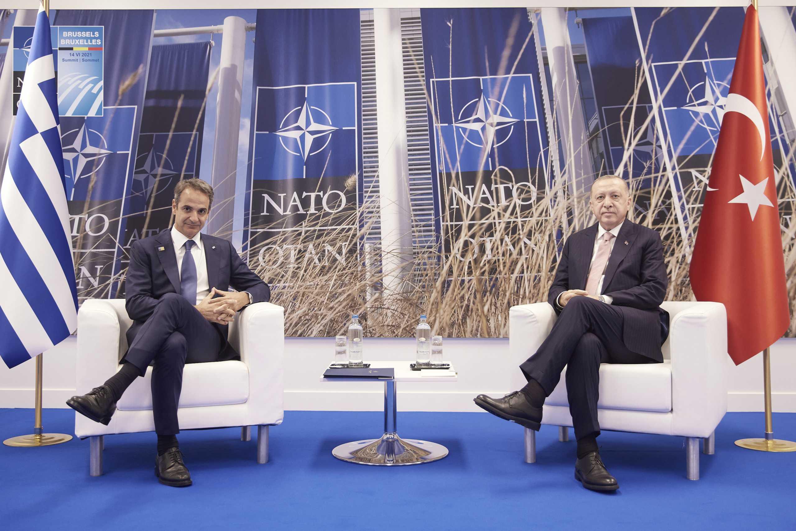 Ερντογάν για συνάντηση με Μητσοτάκη: Συμφωνήσαμε να εντείνουμε τις άμεσες επαφές μας