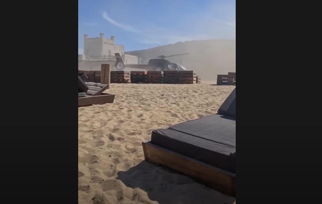 Προσγείωση ελικοπτέρου σε παραλία της Μυκόνου: Η Υπηρεσία Πολιτικής Αεροπορίας ερευνά το περιστατικό