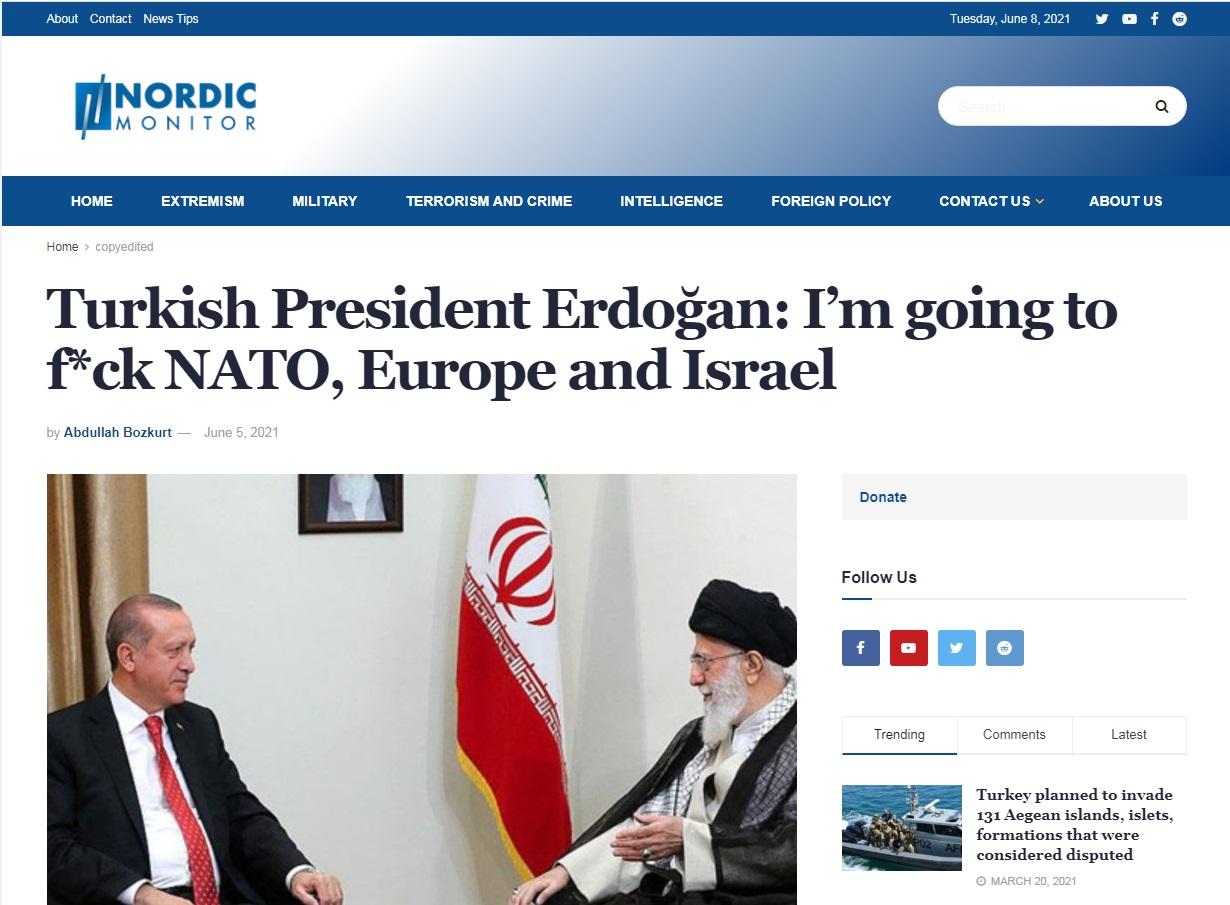 Χυδαίος Ερντογάν: «Θα γ@@@ τις μάνες του ΝΑΤΟ, της Ευρώπης και του Ισραήλ»