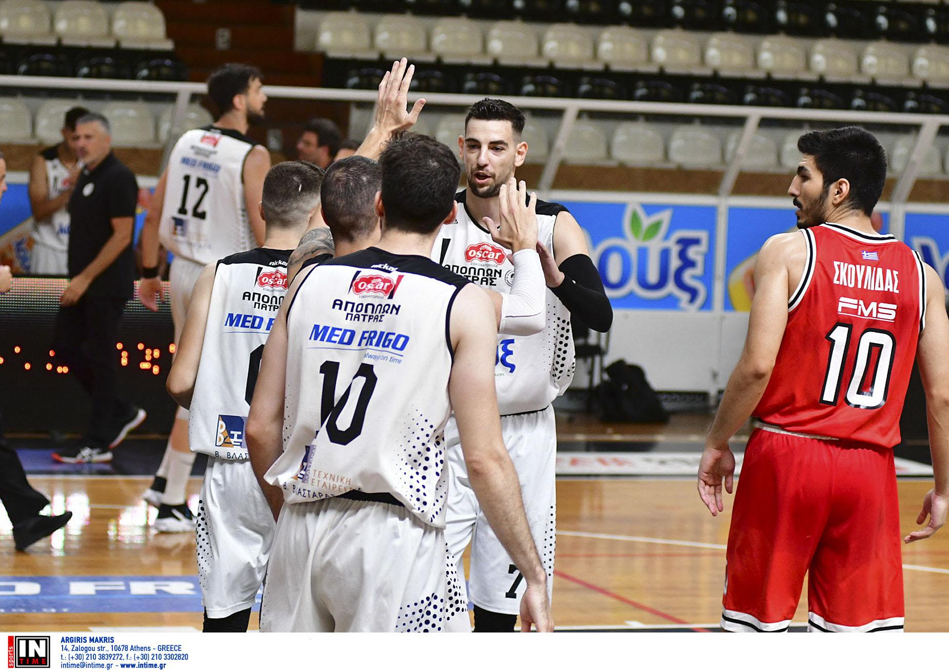 Απόλλων Πάτρας – Ολυμπιακός Β 70-63:    Οι Πατρινοί κέρδισαν την άνοδο στην Basket League