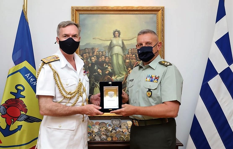 Φρεγάτες: Τετ-α-τετ Α/ΓΕΕΘΑ Φλώρου με τον Αρχηγό του Βρετανικού Βασιλικού Ναυτικού