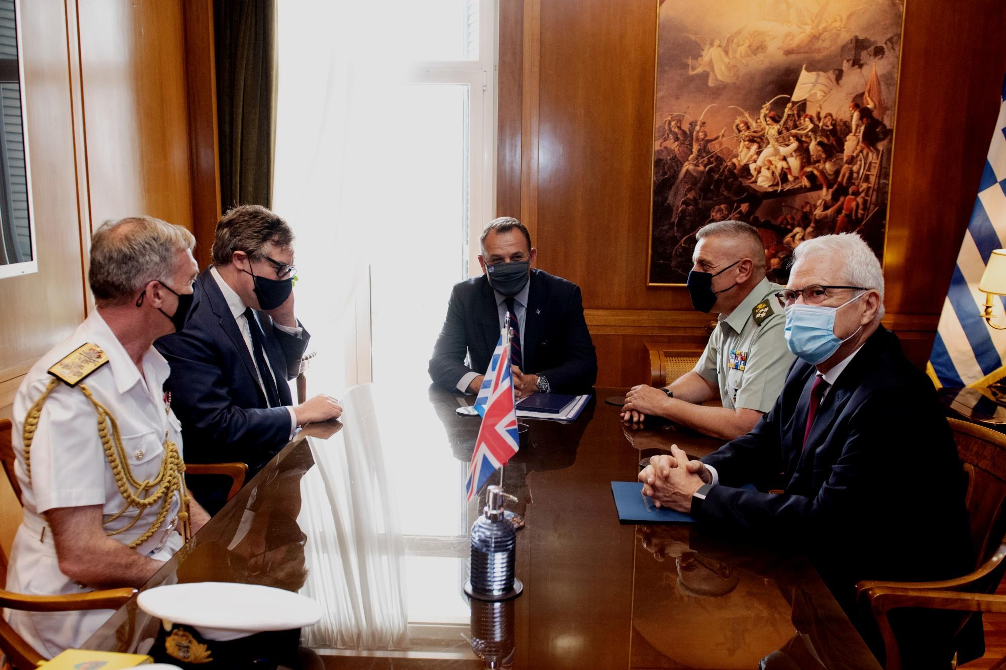Φρεγάτες ΠΝ: Συνομιλίες Παναγιωτόπουλου με τους Βρετανούς αξιωματούχους