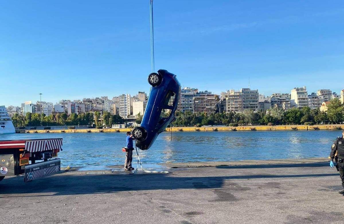 Συναγερμός στον Πειραιά: Αυτοκίνητο έπεσε στο λιμάνι (pics, vid)