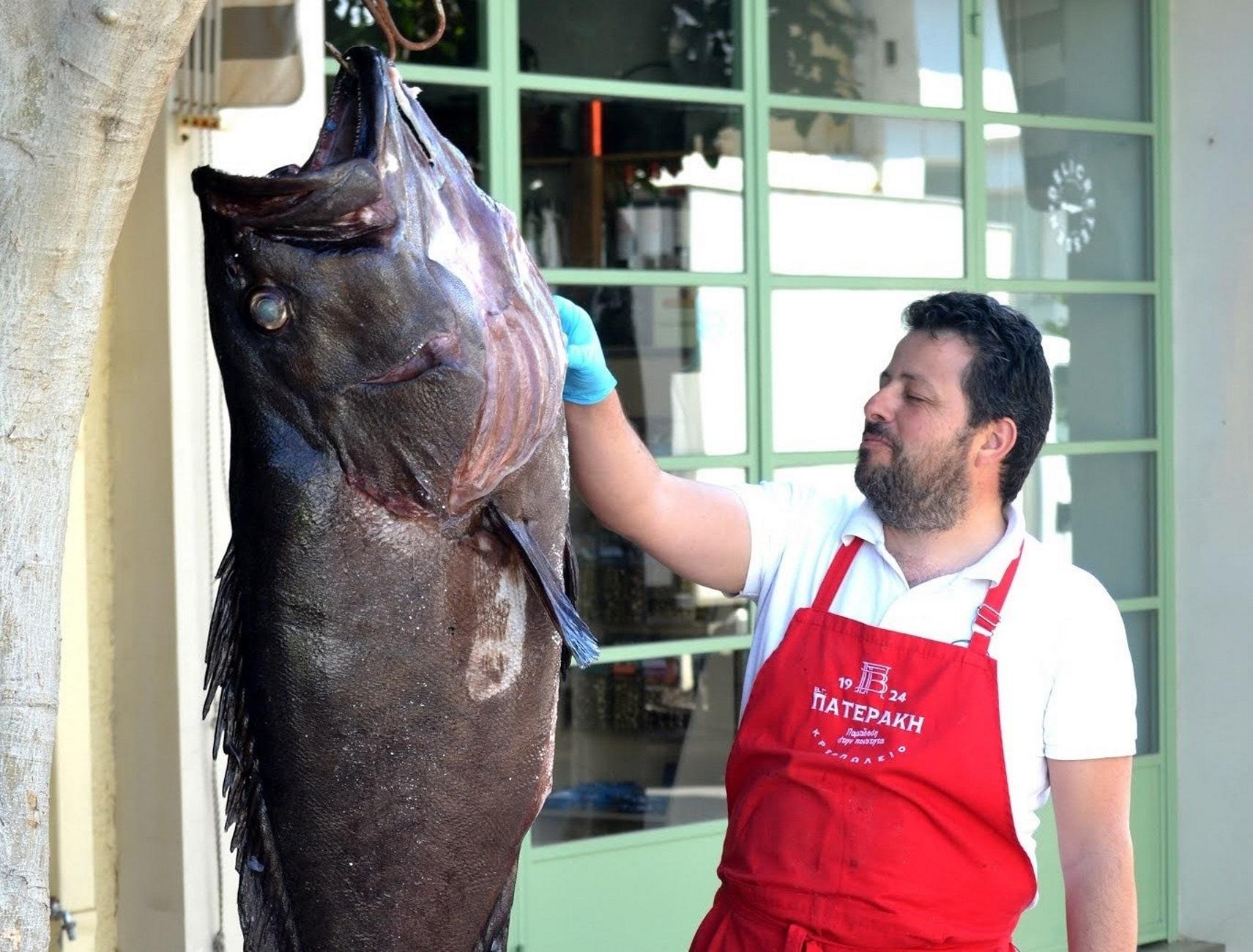 Κρήτη: Στάθηκαν τυχεροί και έβγαλαν αυτό το τεράστιο ψάρι – Δείτε τις εικόνες που έγιναν θέμα συζήτησης